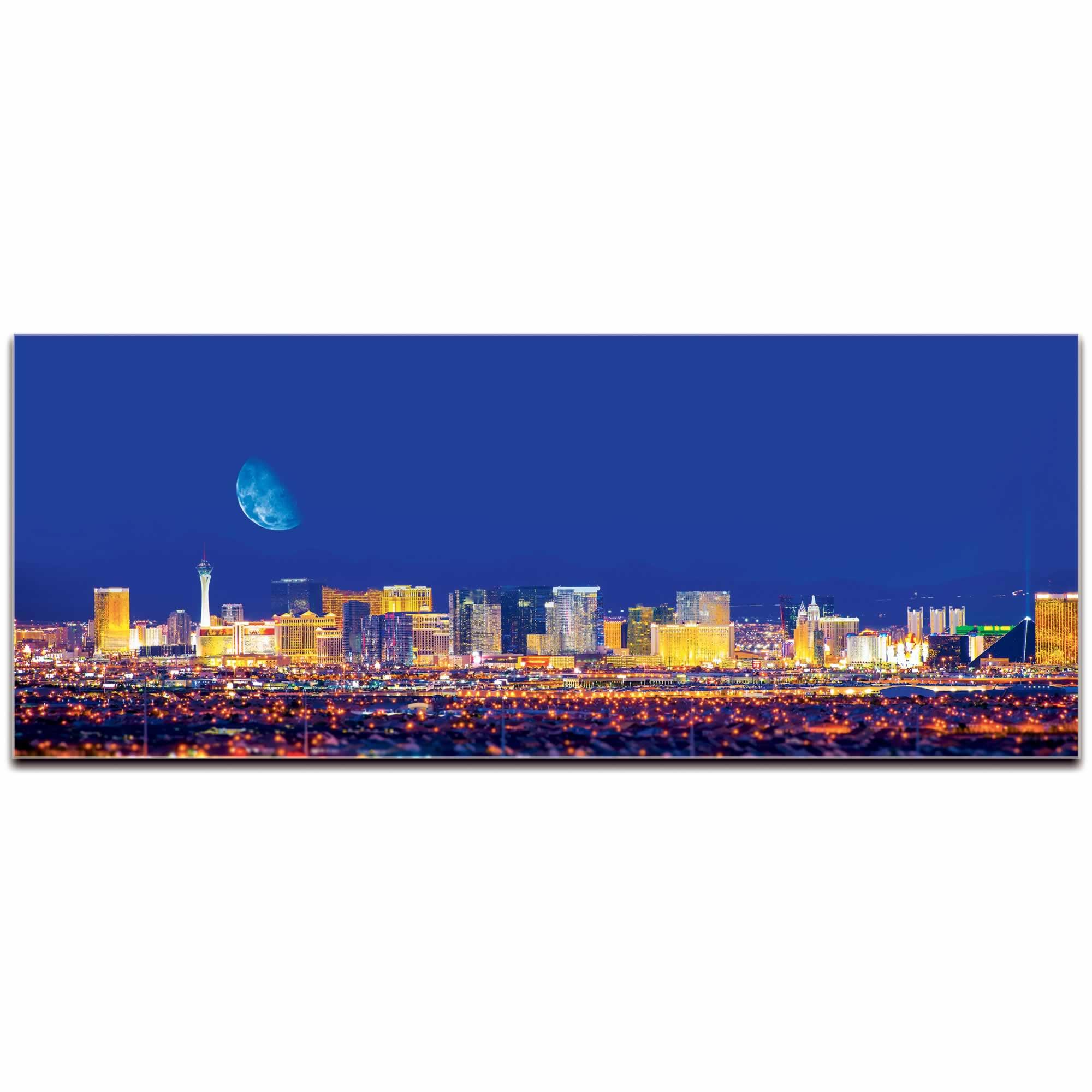 Las Vegas City Skyline - Urban Modern Art, Designer Home Decor, Cityscape Wall Artwork, Trendy Contemporary Art