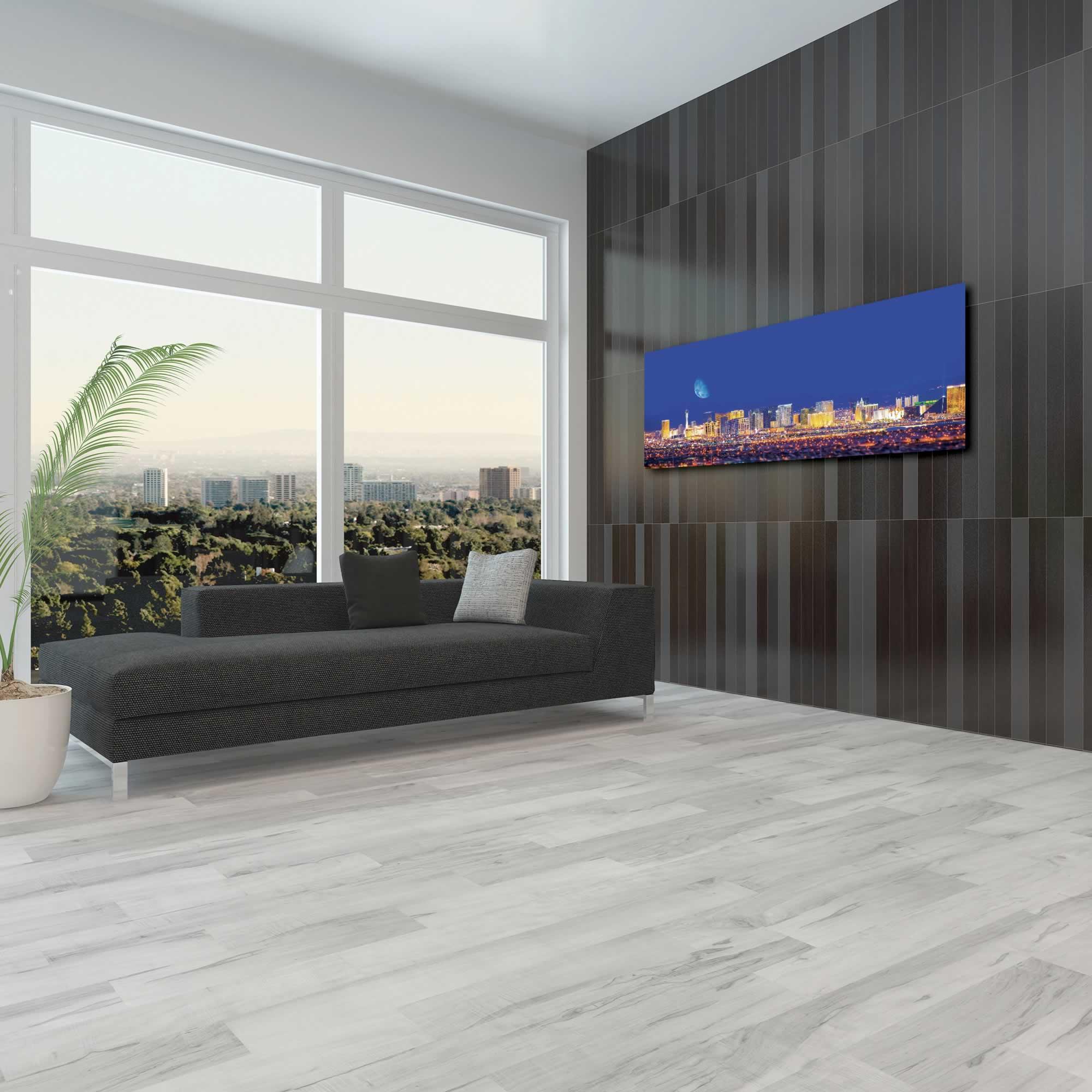 Las Vegas City Skyline - Urban Modern Art, Designer Home Decor, Cityscape Wall Artwork, Trendy Contemporary Art - Alternate View 3