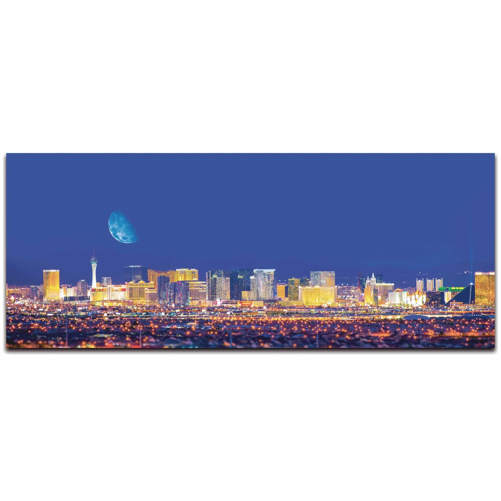 Las Vegas City Skyline - Urban Modern Art, Designer Home Decor, Cityscape Wall Artwork, Trendy Contemporary Art - Alternate View 2