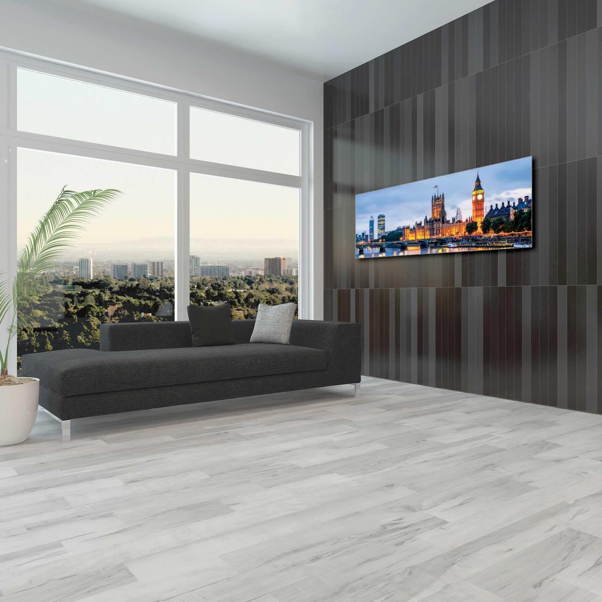 Classic London City Skyline - Urban Modern Art, Designer Home Decor, Cityscape Wall Artwork, Trendy Contemporary Art - Alternate View 1