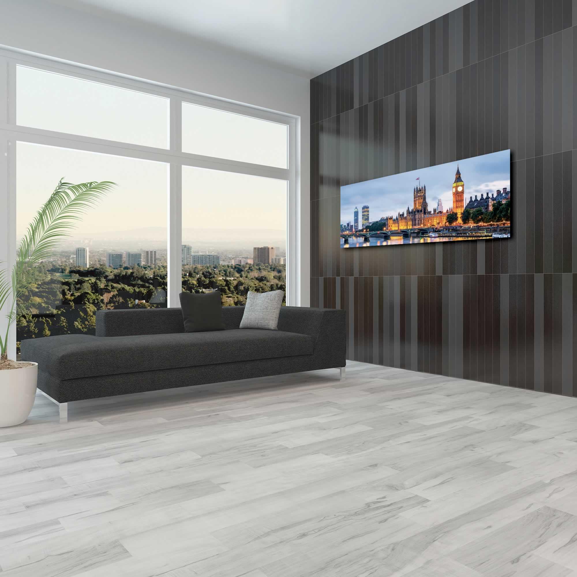 Classic London City Skyline - Urban Modern Art, Designer Home Decor, Cityscape Wall Artwork, Trendy Contemporary Art - Alternate View 3