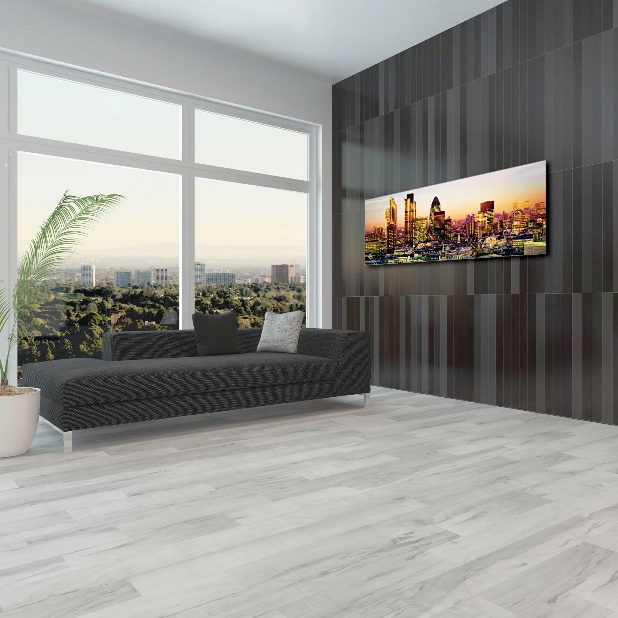 Modern London City Skyline - Urban Modern Art, Designer Home Decor, Cityscape Wall Artwork, Trendy Contemporary Art - Alternate View 1