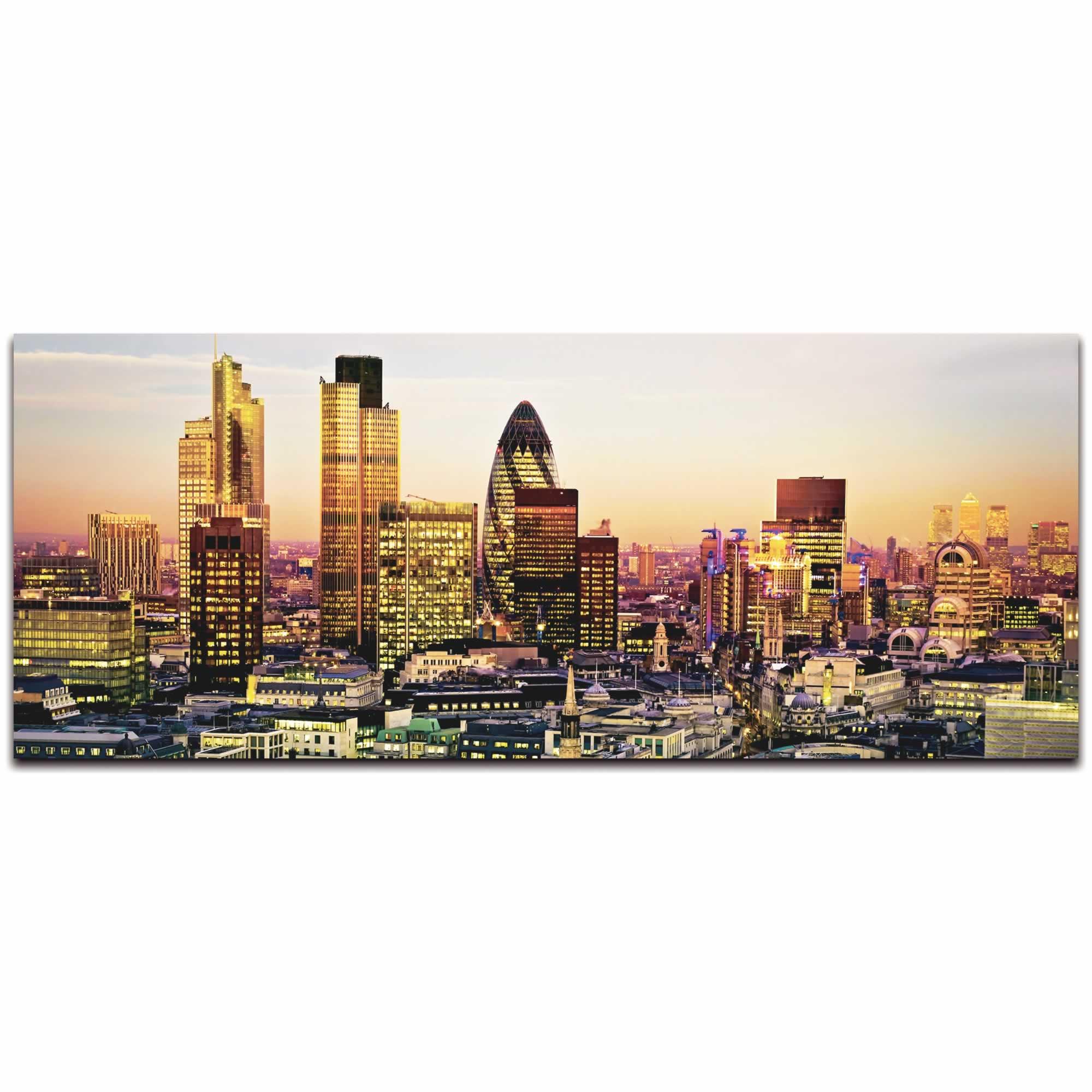 Modern London City Skyline - Urban Modern Art, Designer Home Decor, Cityscape Wall Artwork, Trendy Contemporary Art - Alternate View 2