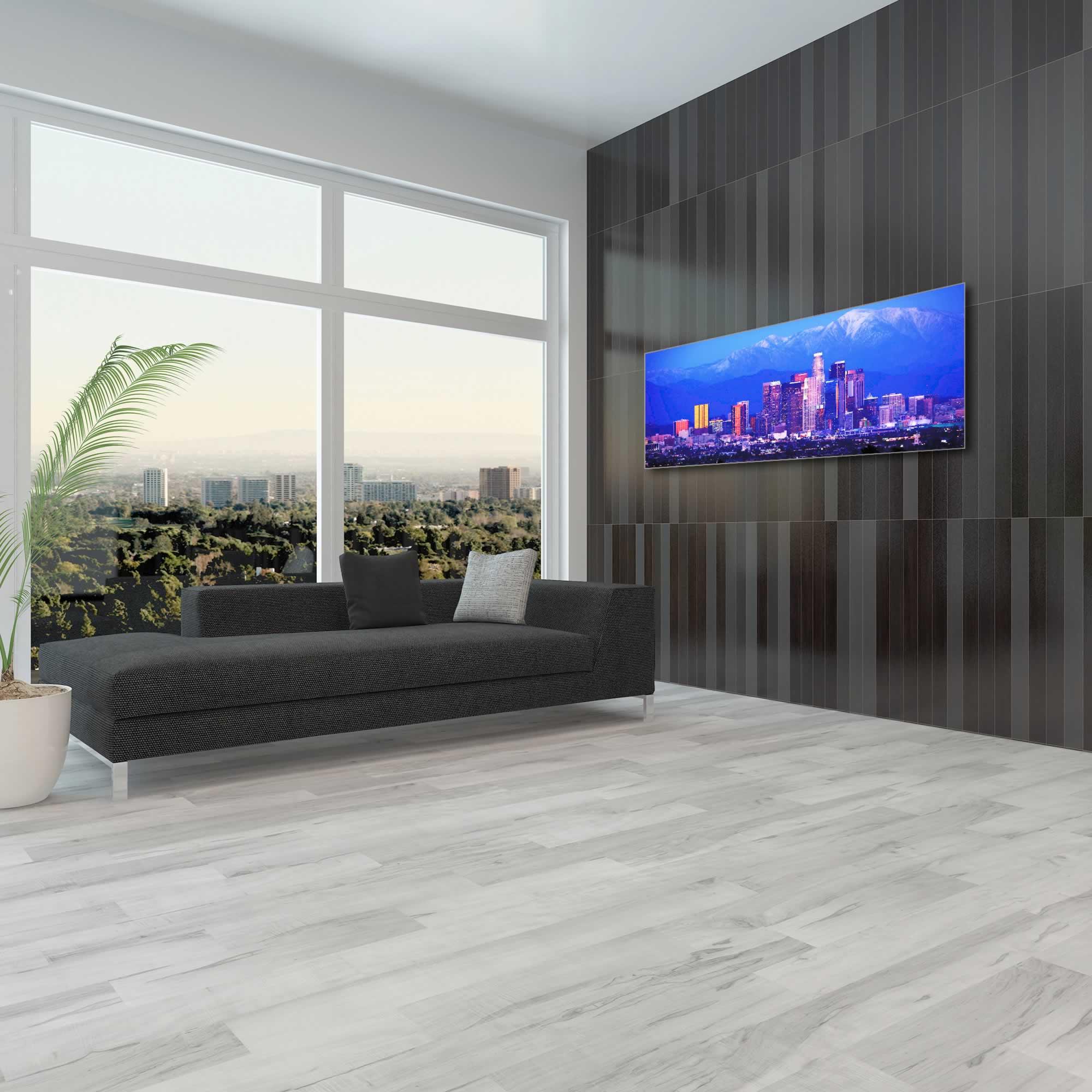 Los Angeles City Skyline - Urban Modern Art, Designer Home Decor, Cityscape Wall Artwork, Trendy Contemporary Art - Alternate View 1