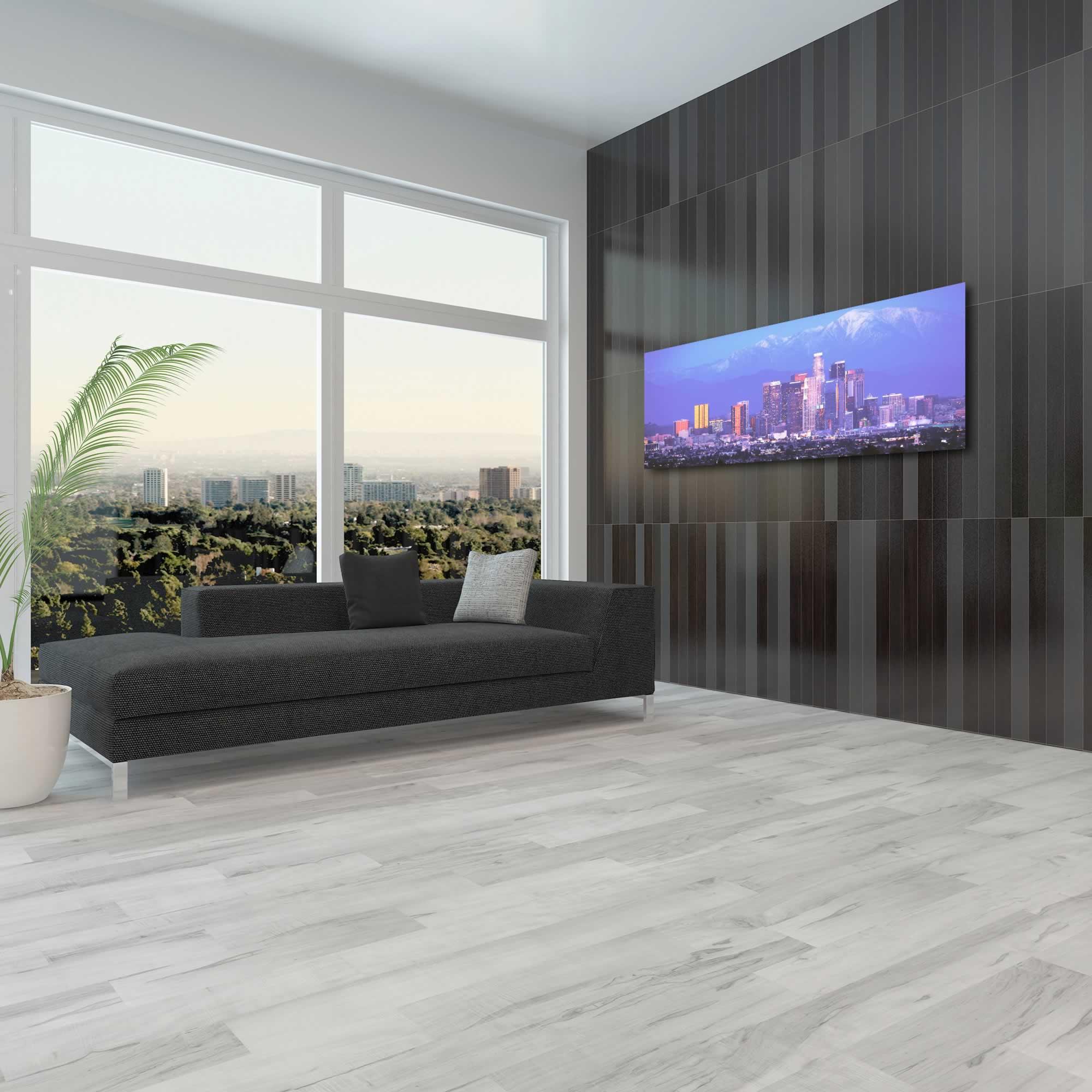 Los Angeles City Skyline - Urban Modern Art, Designer Home Decor, Cityscape Wall Artwork, Trendy Contemporary Art - Alternate View 3
