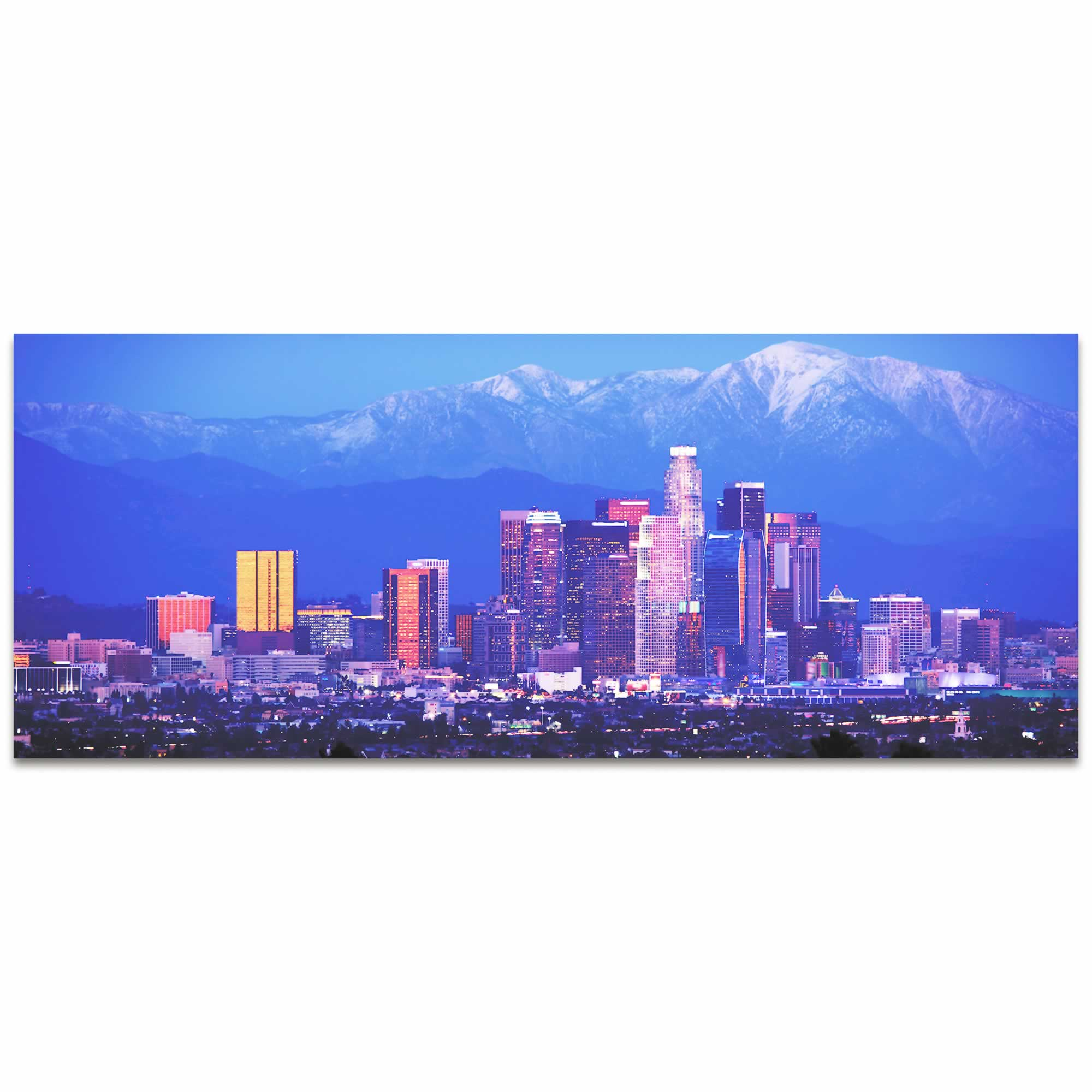 Los Angeles City Skyline - Urban Modern Art, Designer Home Decor, Cityscape Wall Artwork, Trendy Contemporary Art - Alternate View 2