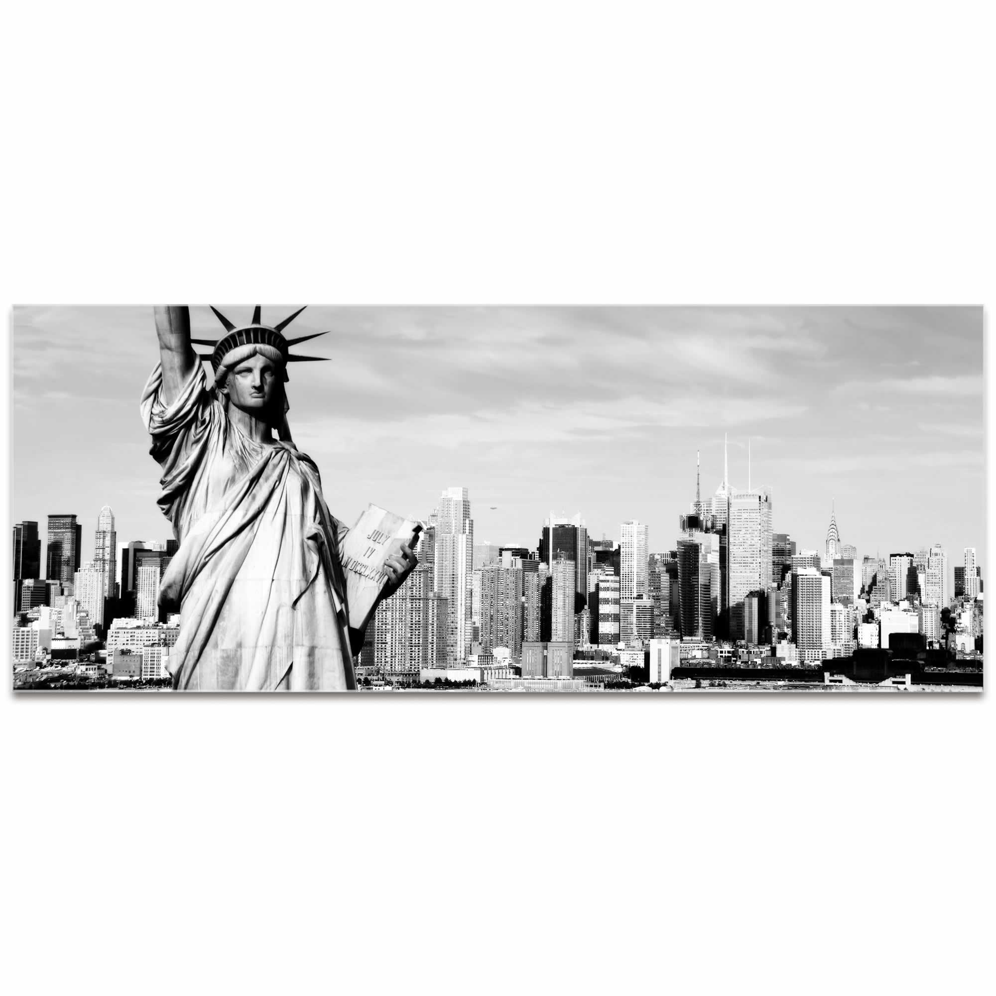 New York Black and White City Skyline - Urban Modern Art, Designer Home Decor, Cityscape Wall Artwork, Trendy Contemporary Art