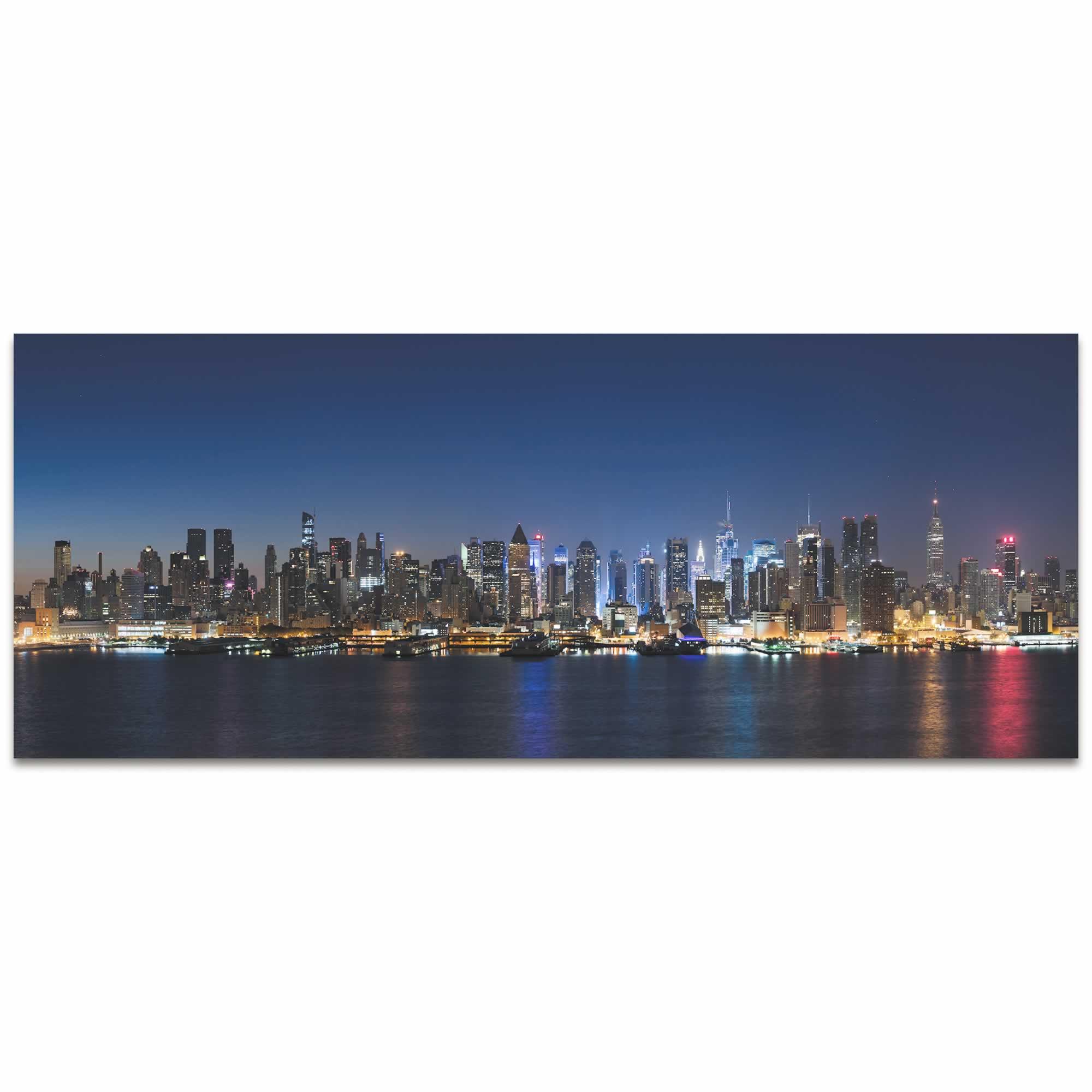 New York Harbor City Skyline - Urban Modern Art, Designer Home Decor, Cityscape Wall Artwork, Trendy Contemporary Art - Alternate View 2