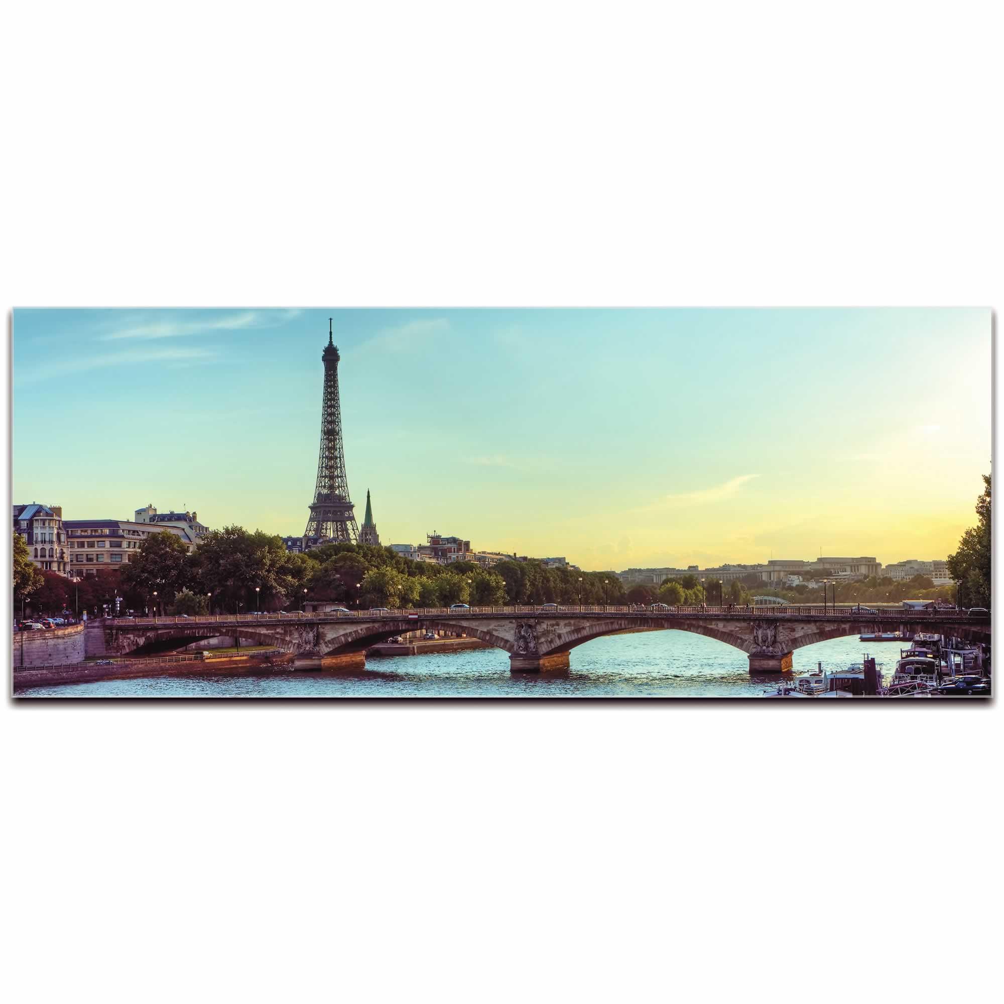 Classic Paris City Skyline - Urban Modern Art, Designer Home Decor, Cityscape Wall Artwork, Trendy Contemporary Art