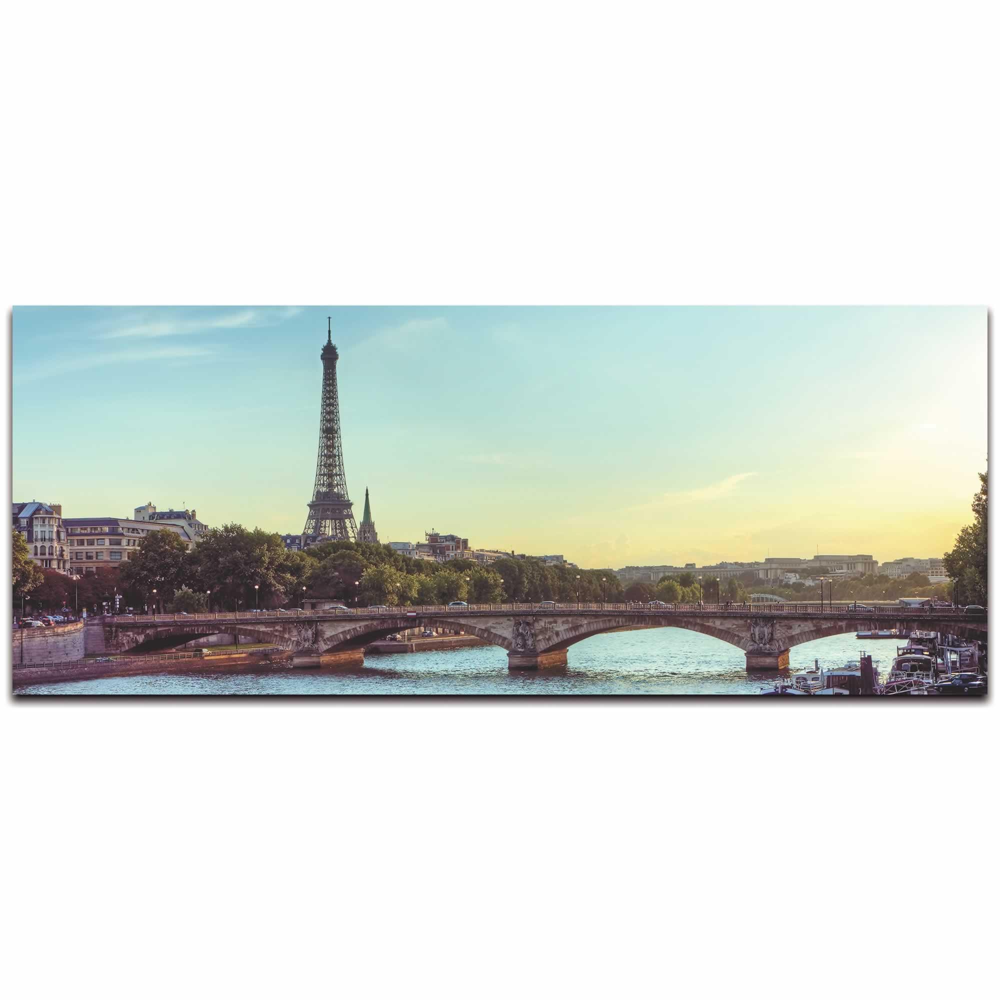 Classic Paris City Skyline - Urban Modern Art, Designer Home Decor, Cityscape Wall Artwork, Trendy Contemporary Art - Alternate View 2