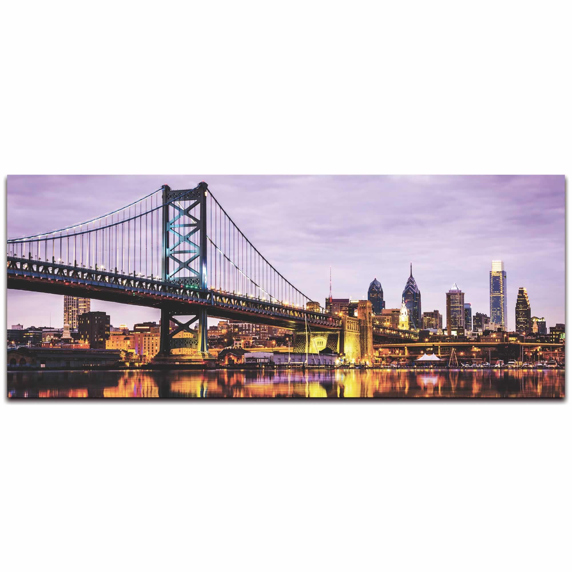 Philadelphia City Skyline - Urban Modern Art, Designer Home Decor, Cityscape Wall Artwork, Trendy Contemporary Art - Alternate View 2