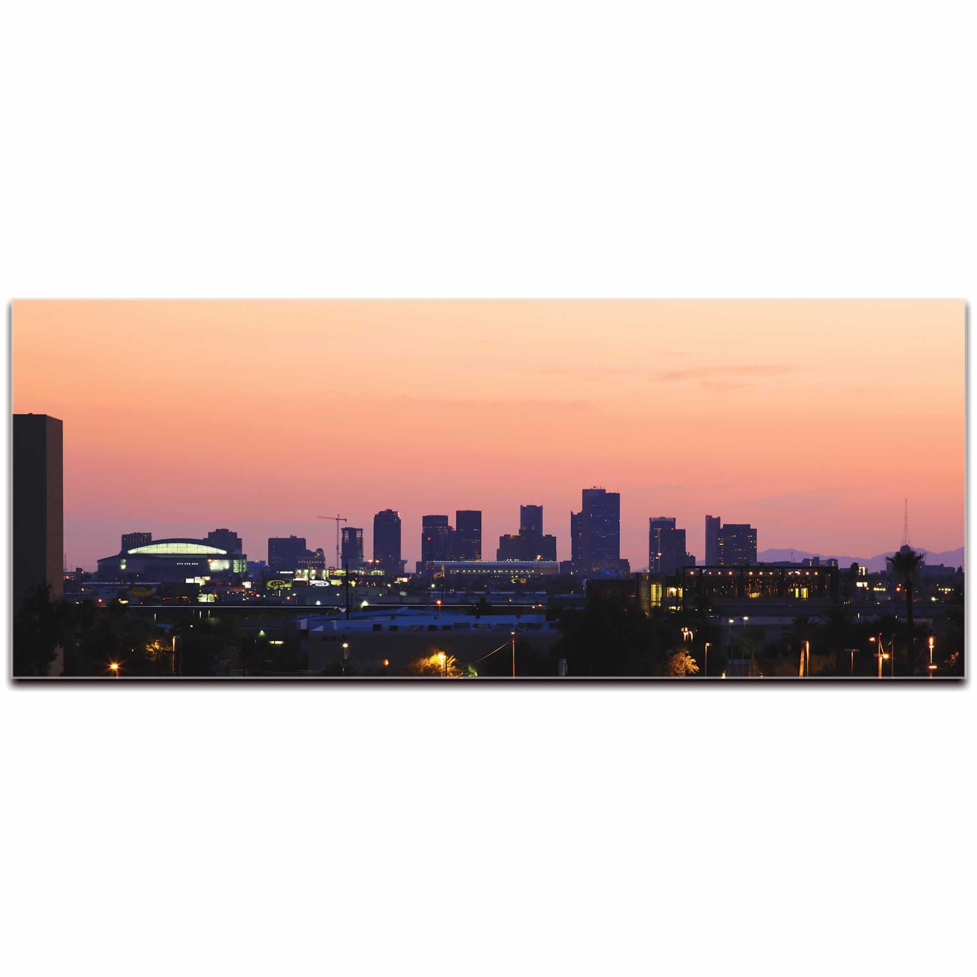 Phoenix City Skyline - Urban Modern Art, Designer Home Decor, Cityscape Wall Artwork,