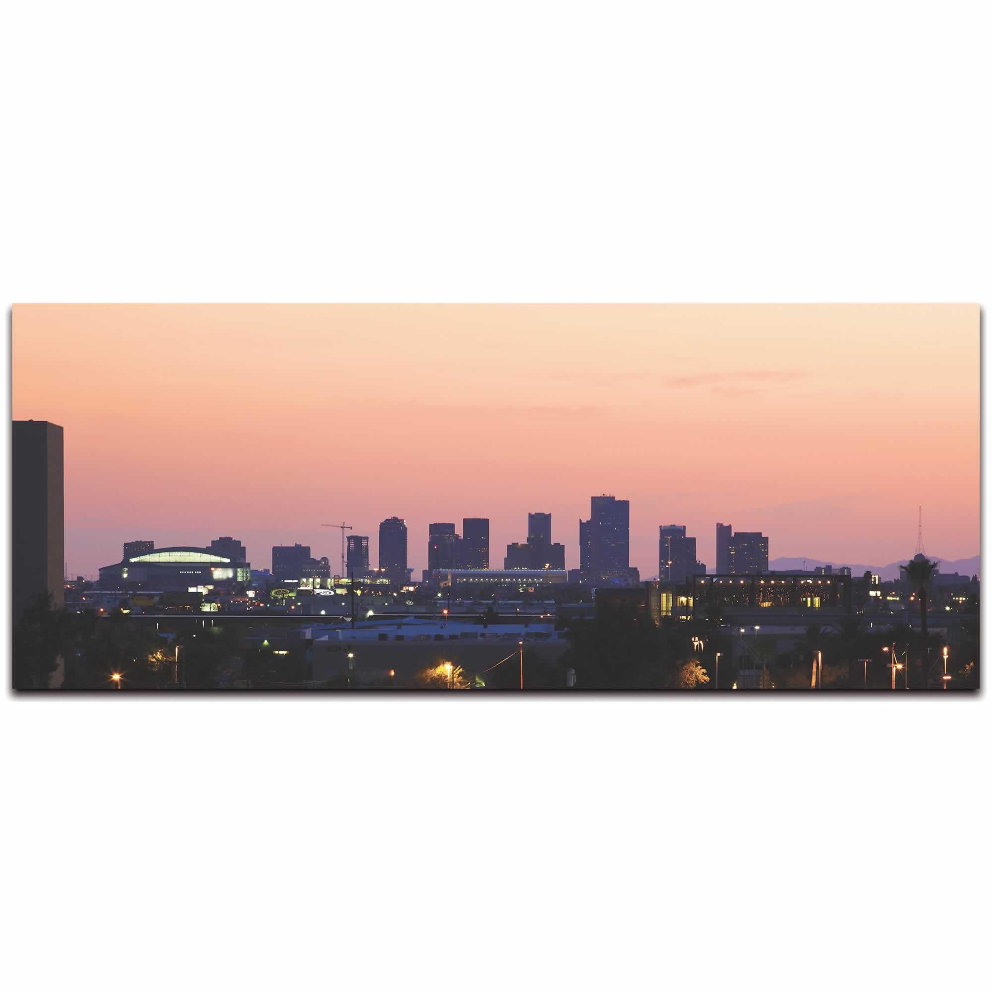 Phoenix City Skyline - Urban Modern Art, Designer Home Decor, Cityscape Wall Artwork, Trendy Contemporary Art - Alternate View 2