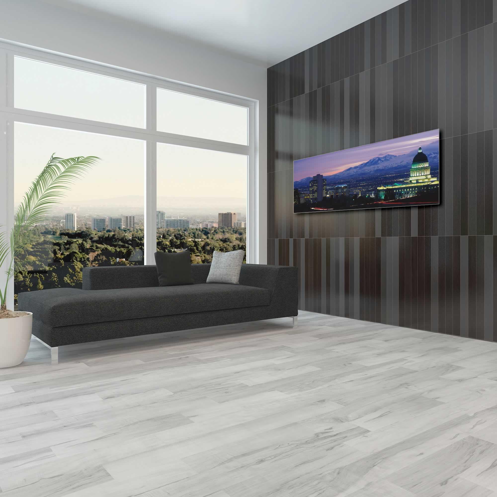 Salt Lake City Skyline - Urban Modern Art, Designer Home Decor, Cityscape Wall Artwork, Trendy Contemporary Art - Alternate View 1