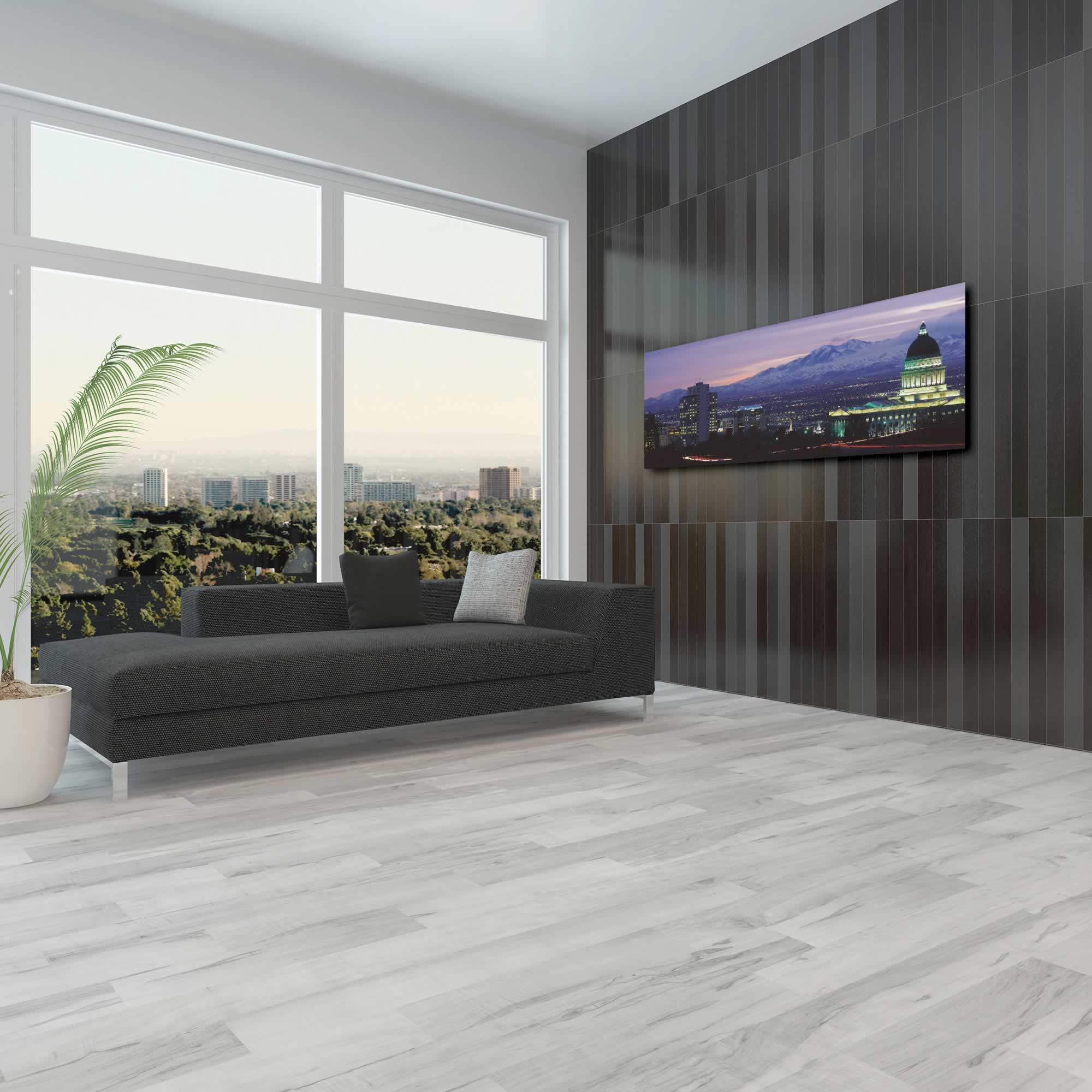 Salt Lake City Skyline - Urban Modern Art, Designer Home Decor, Cityscape Wall Artwork, Trendy Contemporary Art - Alternate View 3