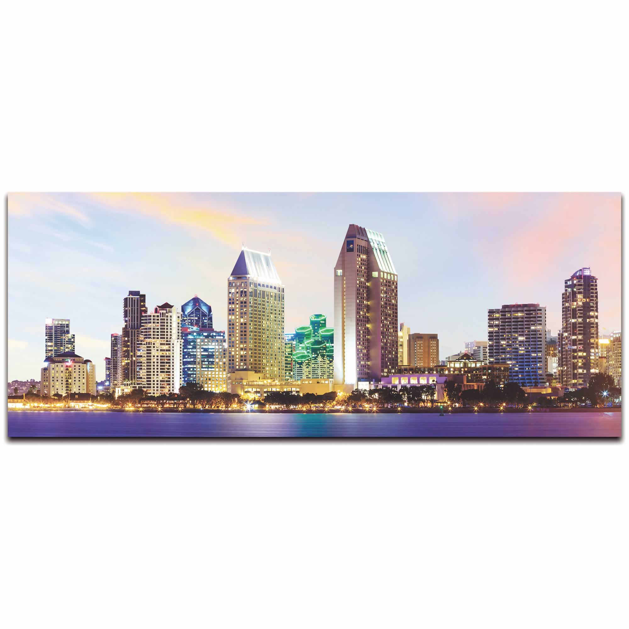 San Diego City Skyline - Urban Modern Art, Designer Home Decor, Cityscape Wall Artwork, Trendy Contemporary Art - Alternate View 2