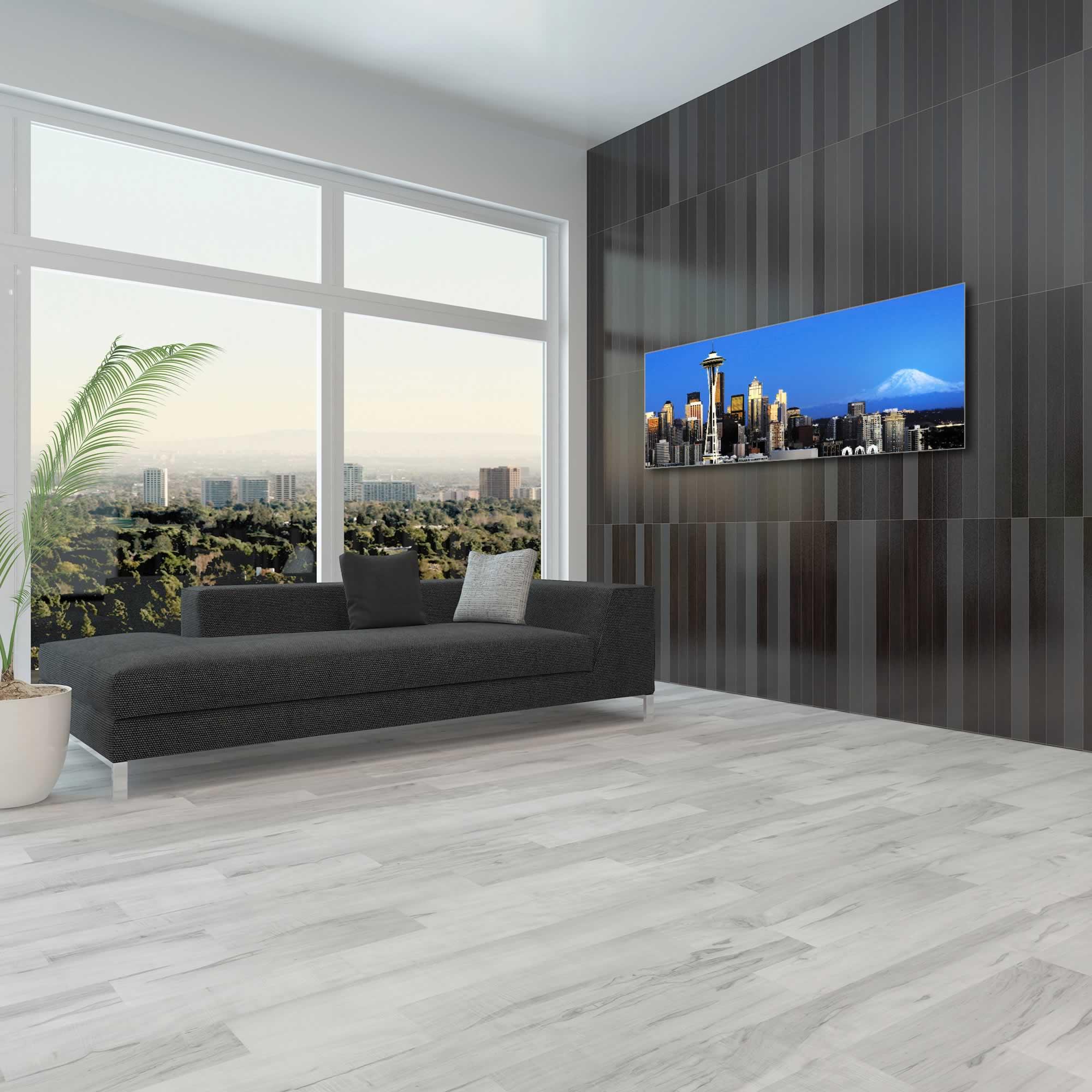 Seattle City Skyline - Urban Modern Art, Designer Home Decor, Cityscape Wall Artwork, Trendy Contemporary Art - Alternate View 1