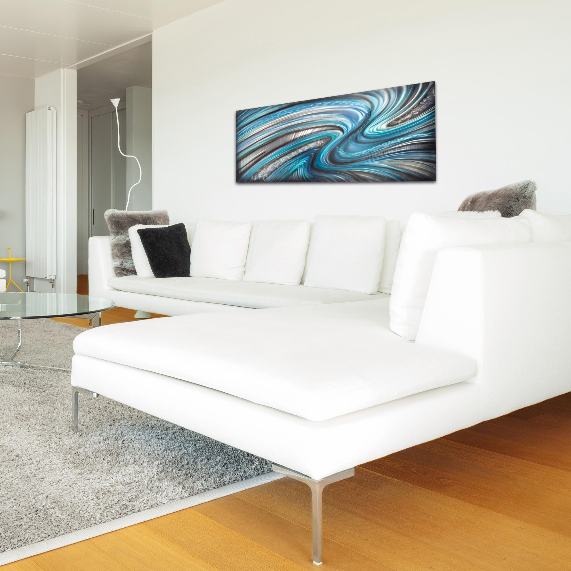 Abstract Wall Art 'Beyond the Waves' - Urban Decor on Metal or Plexiglass - Lifestyle View