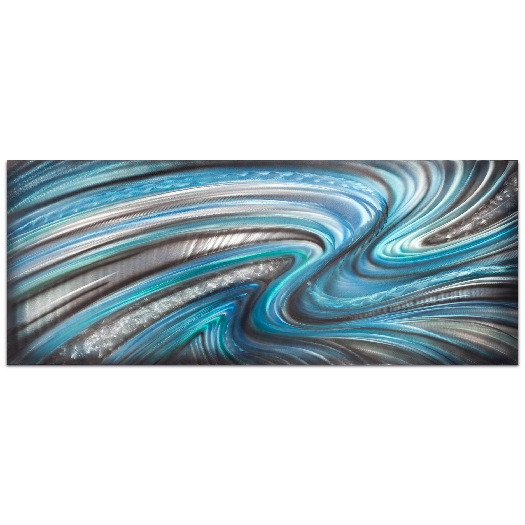 Abstract Wall Art 'Beyond the Waves' - Urban Decor on Metal or Plexiglass