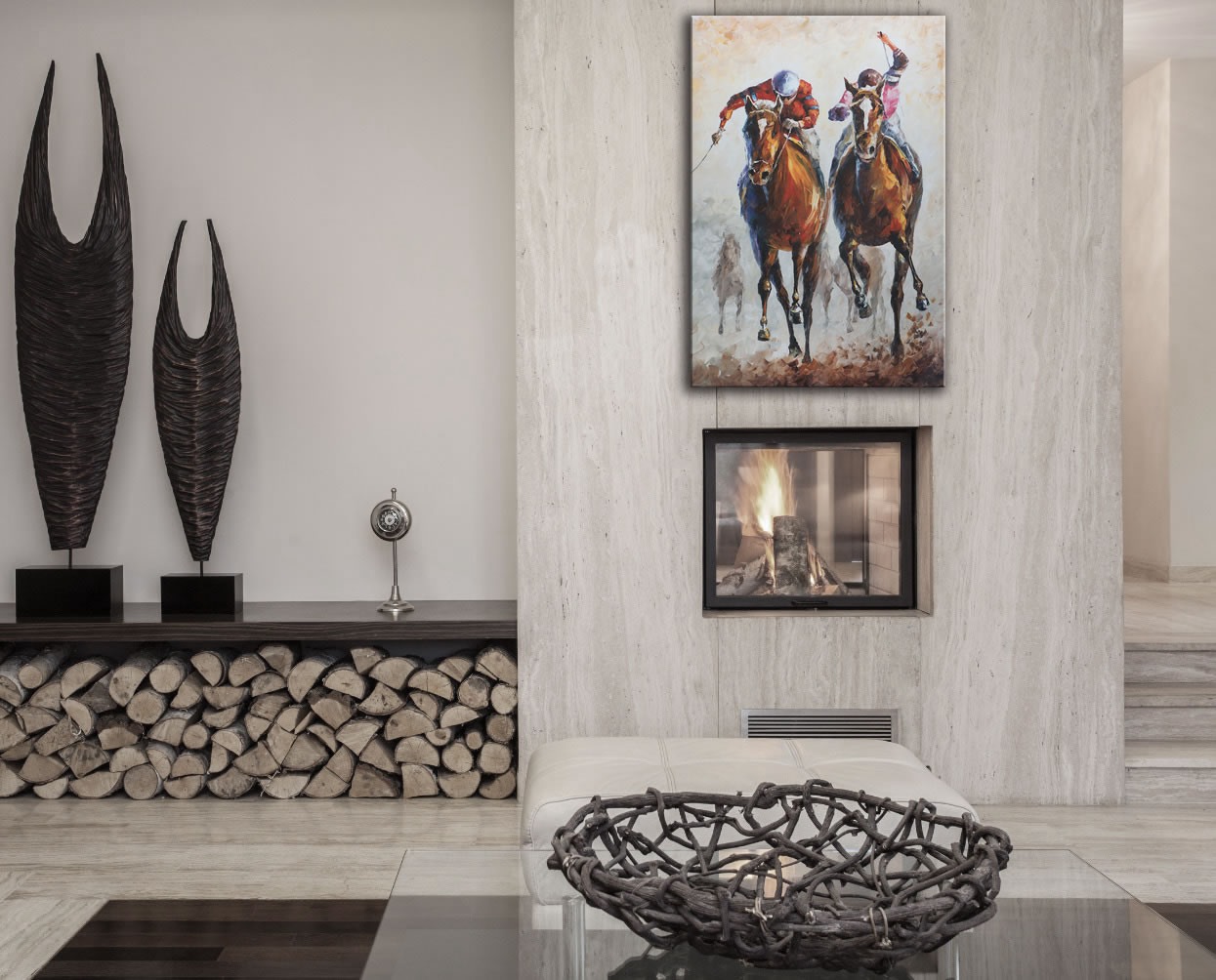 Contenders - Modern Metal Wall Art - Lifestyle Image