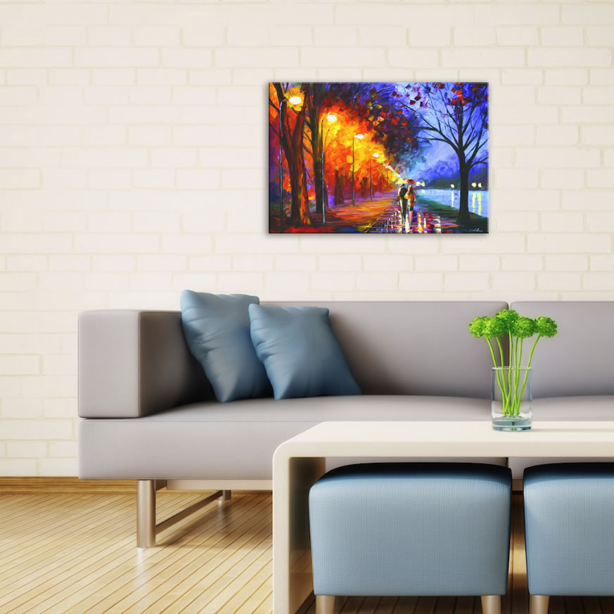 Alley By The Lake - Modern Metal Wall Art - Lifestyle Image