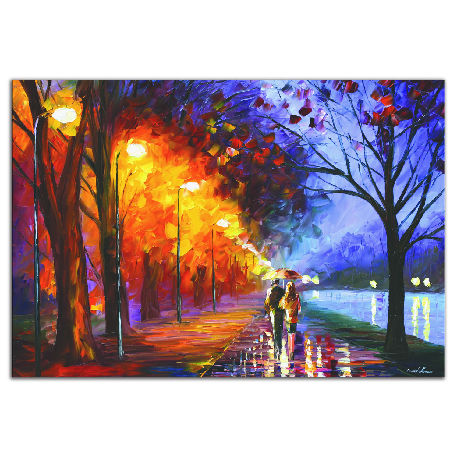 Alley By The Lake - Modern Metal Wall Art
