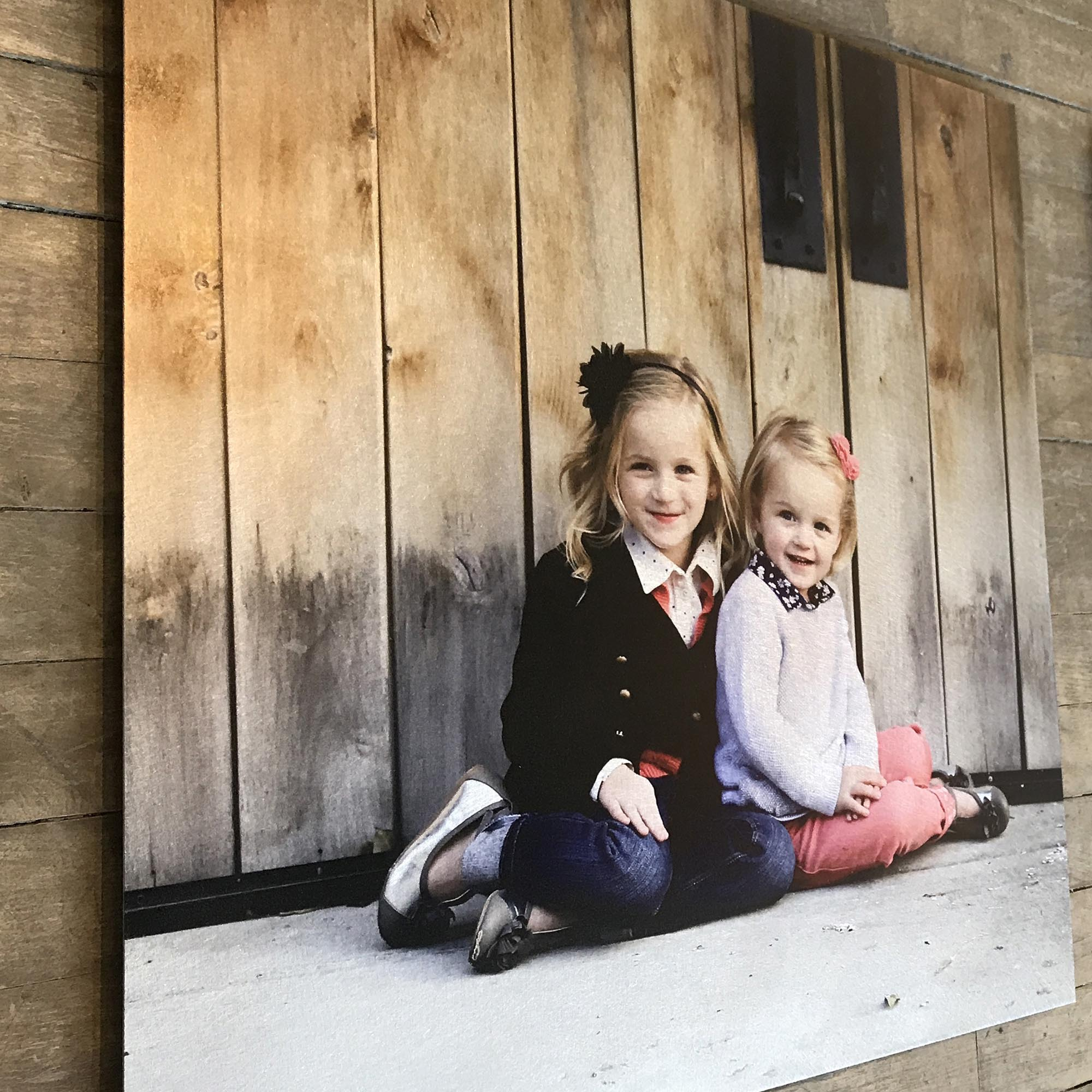 High-End Personalized Custom Photo Prints on Artisan-Brushed Metal - LC000