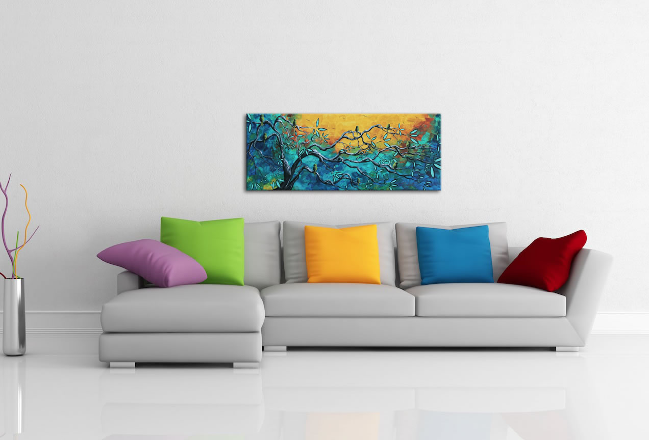 Dream Watchers II - Abstract Painting Print by Megan Duncanson - Lifestyle Image