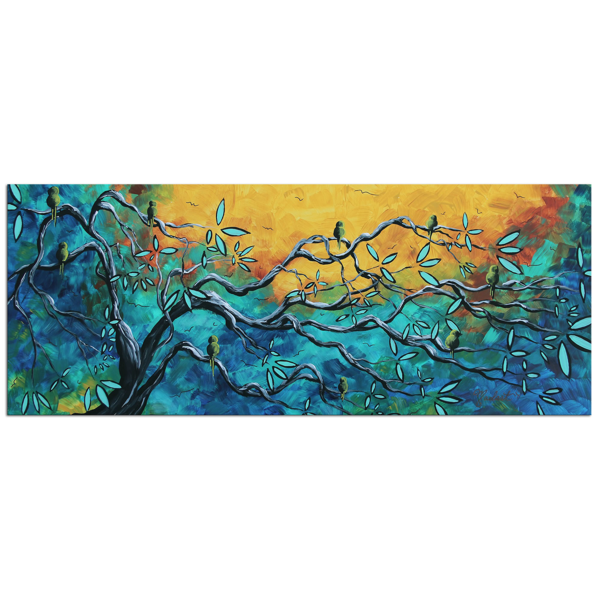 Dream Watchers II - Abstract Painting Print by Megan Duncanson