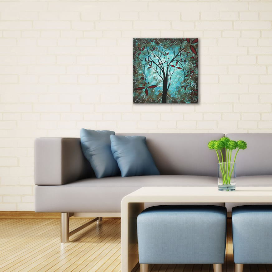 Romantic Evening - Abstract Painting Print by Megan Duncanson - Lifestyle Image