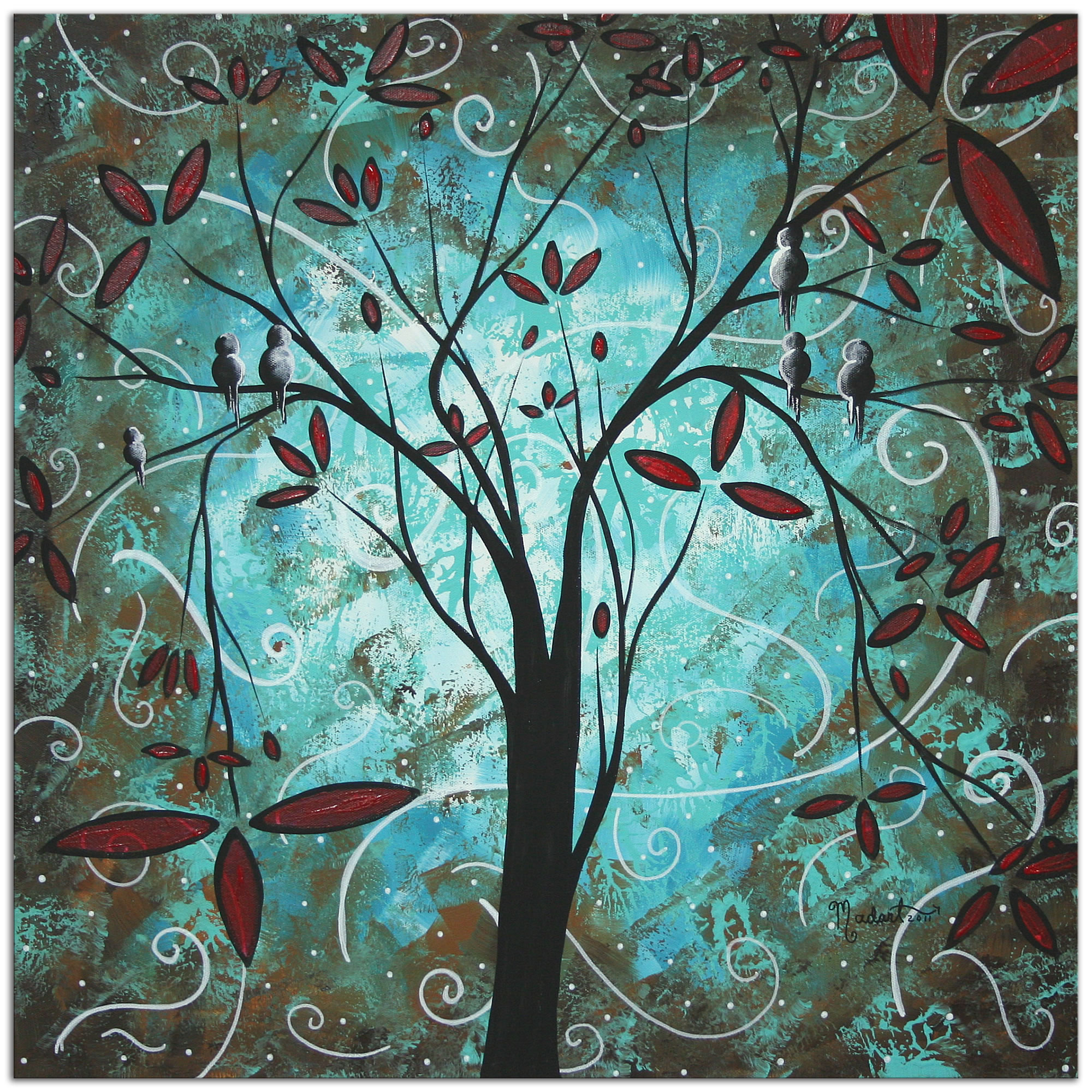 Romantic Evening - Abstract Painting Print by Megan Duncanson