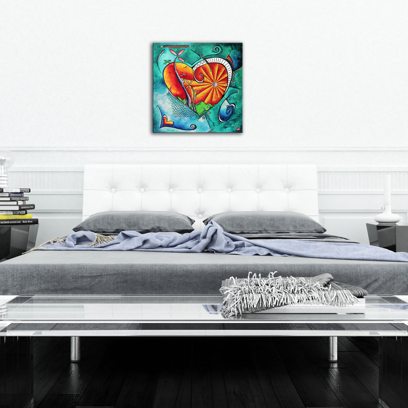 Heart Land - Abstract Painting Print by Megan Duncanson - Lifestyle Image