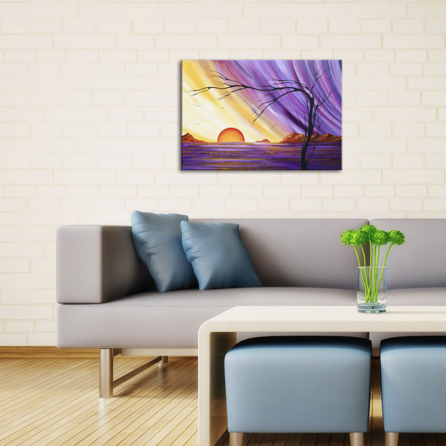 Royal Sunset - Abstract Painting Print by Megan Duncanson - Lifestyle Image