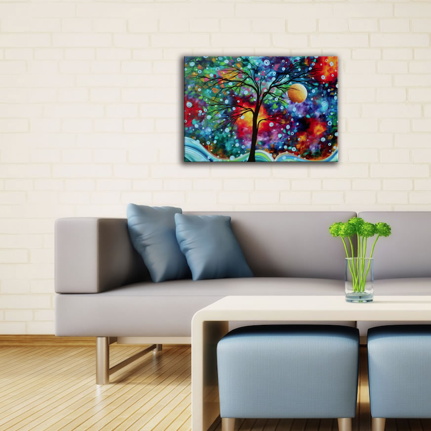 A Moment in Time - Abstract Painting Print by Megan Duncanson - Lifestyle Image