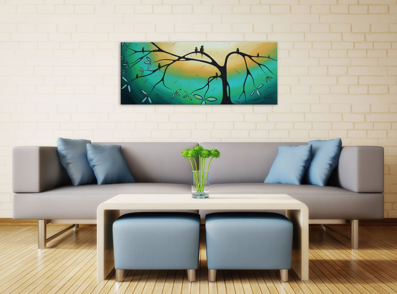 Family Perch - Abstract Painting Print by Megan Duncanson - Lifestyle Image