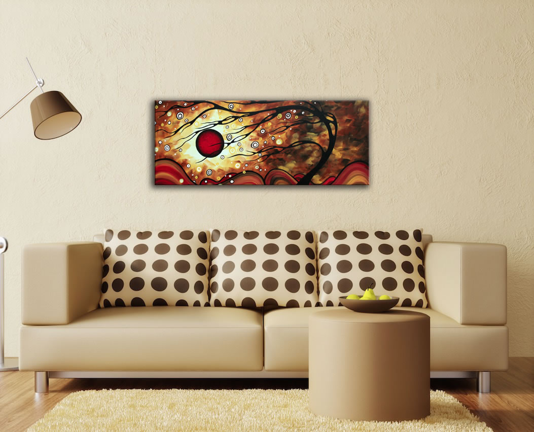 Flaming Desire - Abstract Painting Print by Megan Duncanson - Lifestyle Image