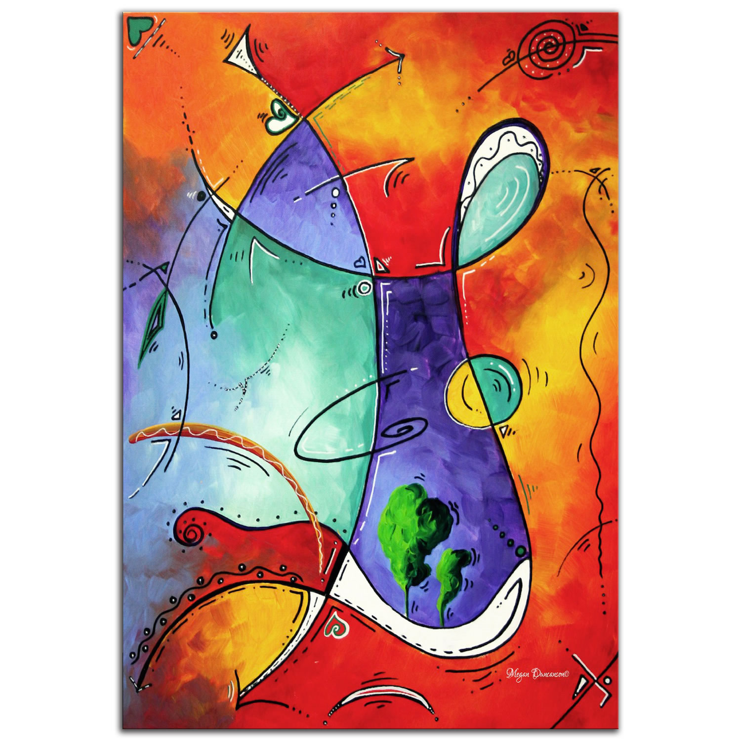 Free at Last - Abstract Painting Print by Megan Duncanson