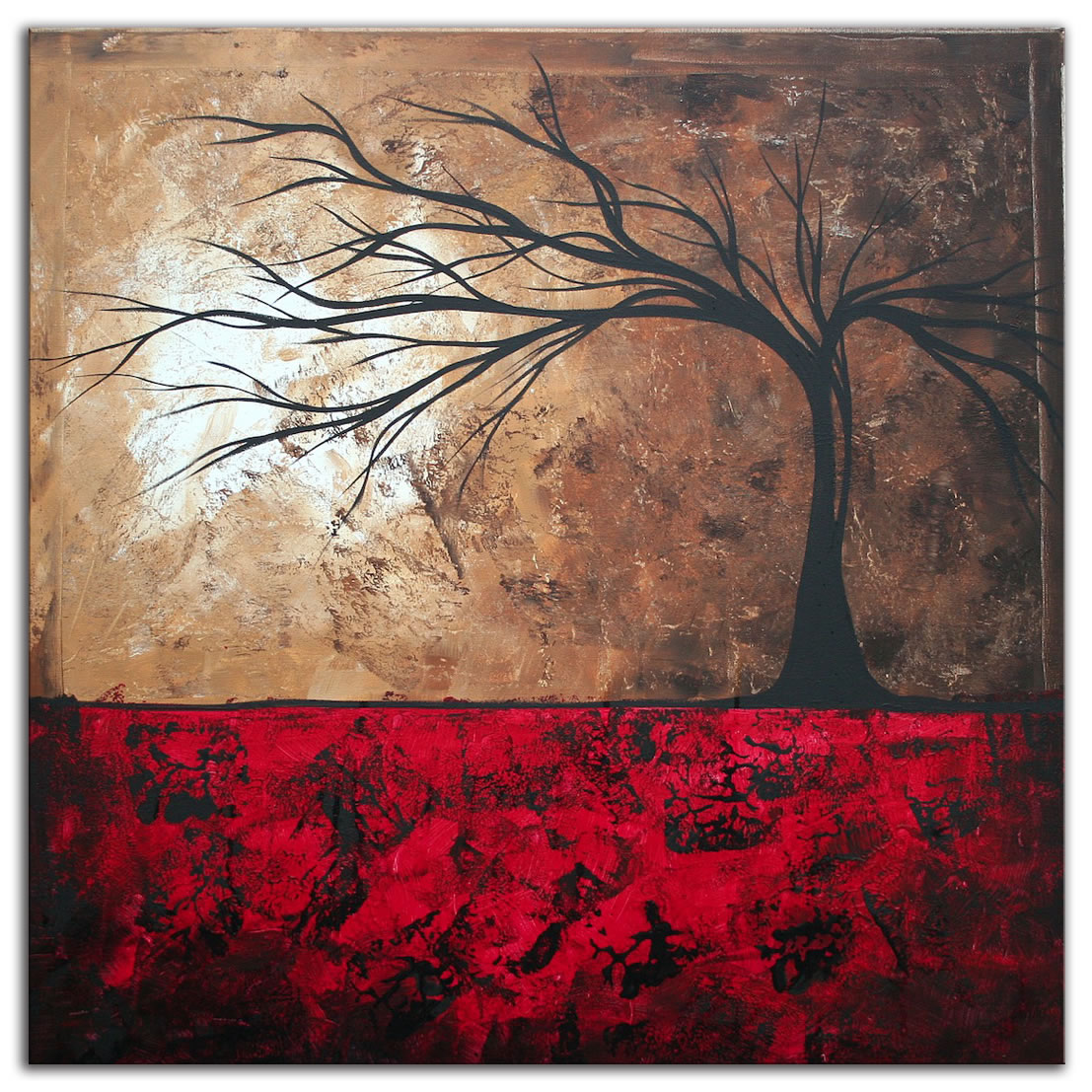 Lost in the Forest - Abstract Painting Print by Megan Duncanson
