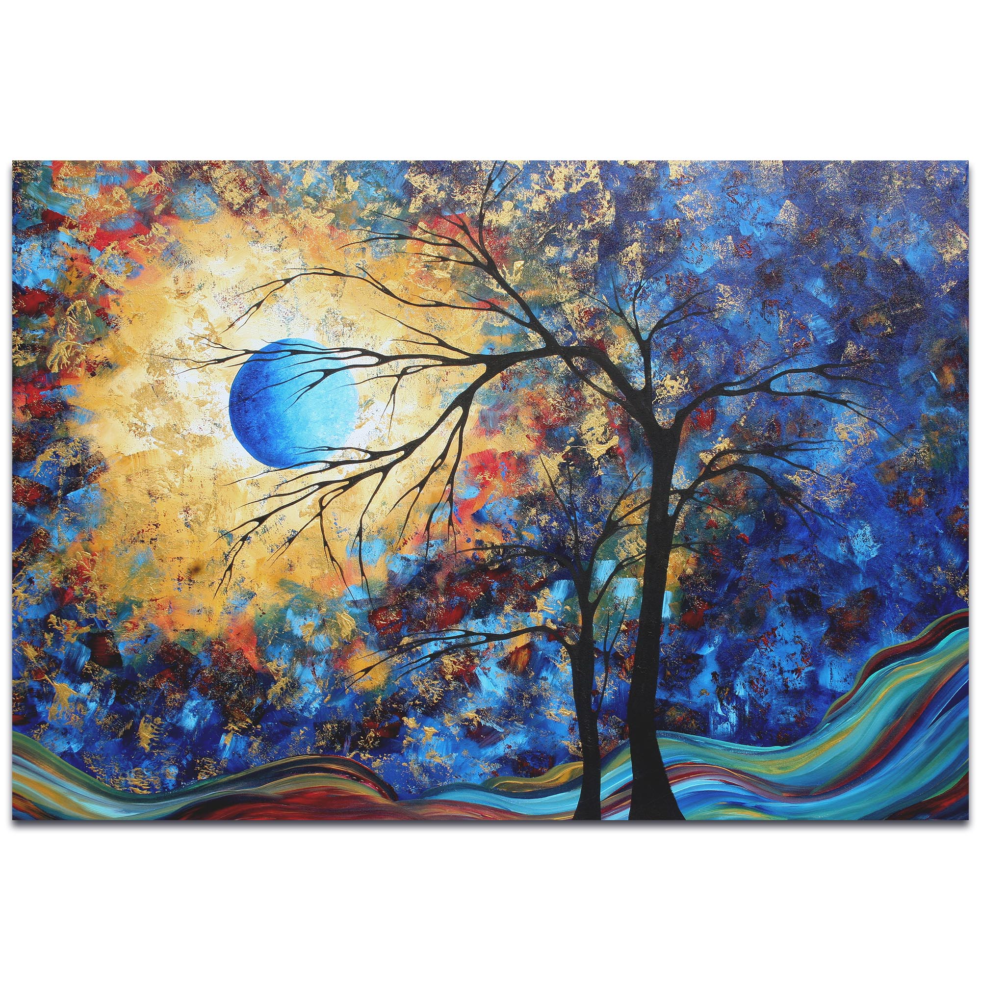 Landscape Painting 'Eye of the Universe' - Abstract Tree Art on Metal or Acrylic