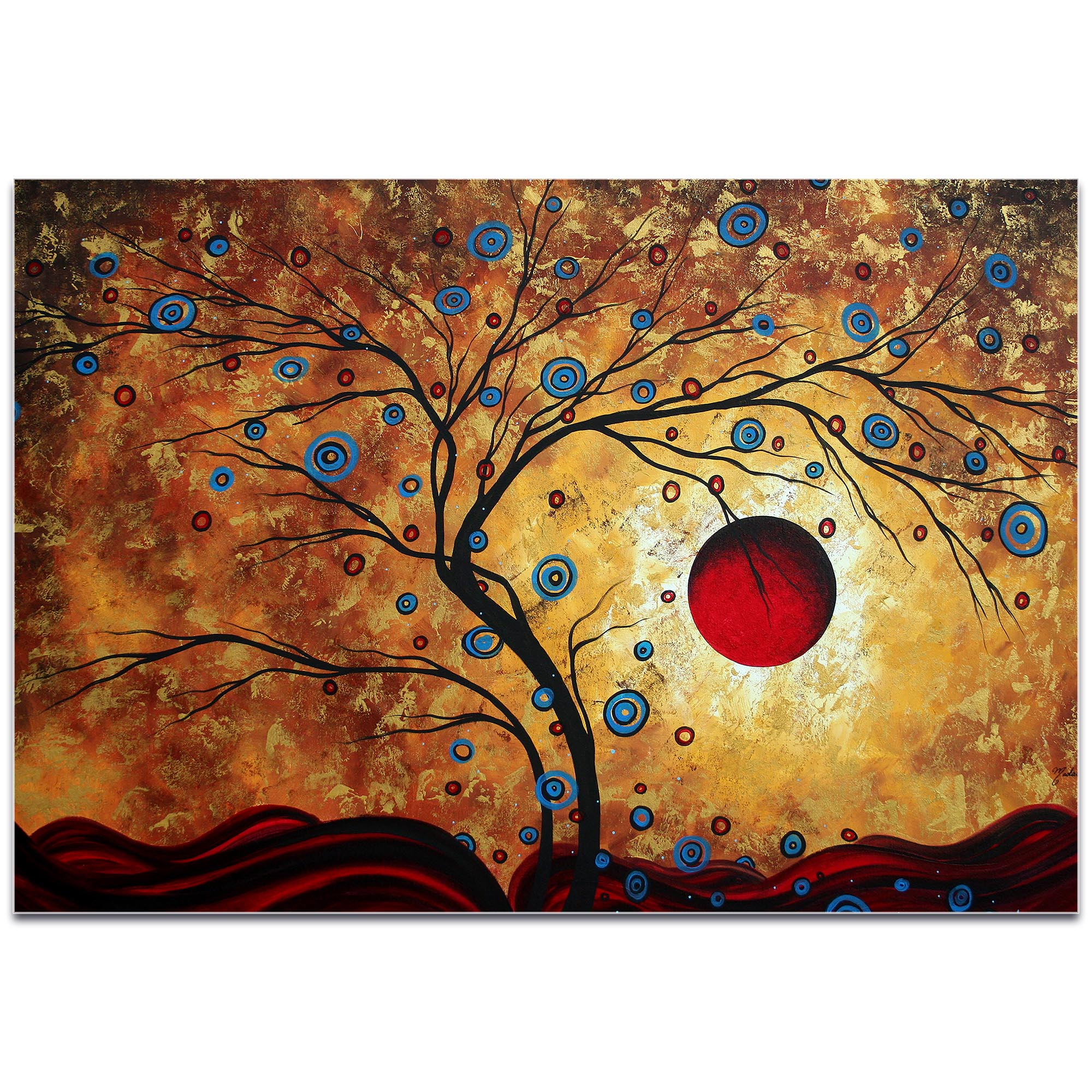 Landscape Painting 'Free as the Wind' - Abstract Tree Art on Metal or Acrylic - Image 2
