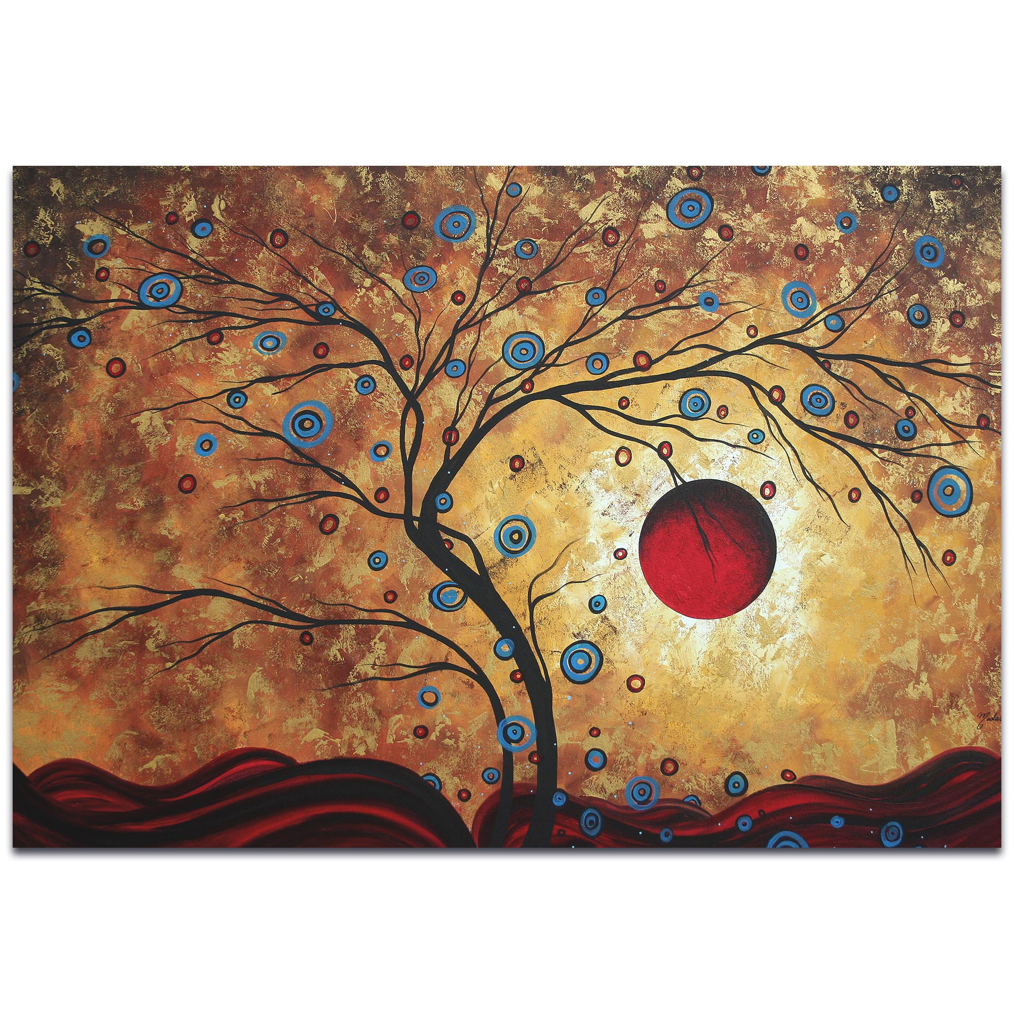 Landscape Painting 'Free as the Wind' - Abstract Tree Art on Metal or Acrylic