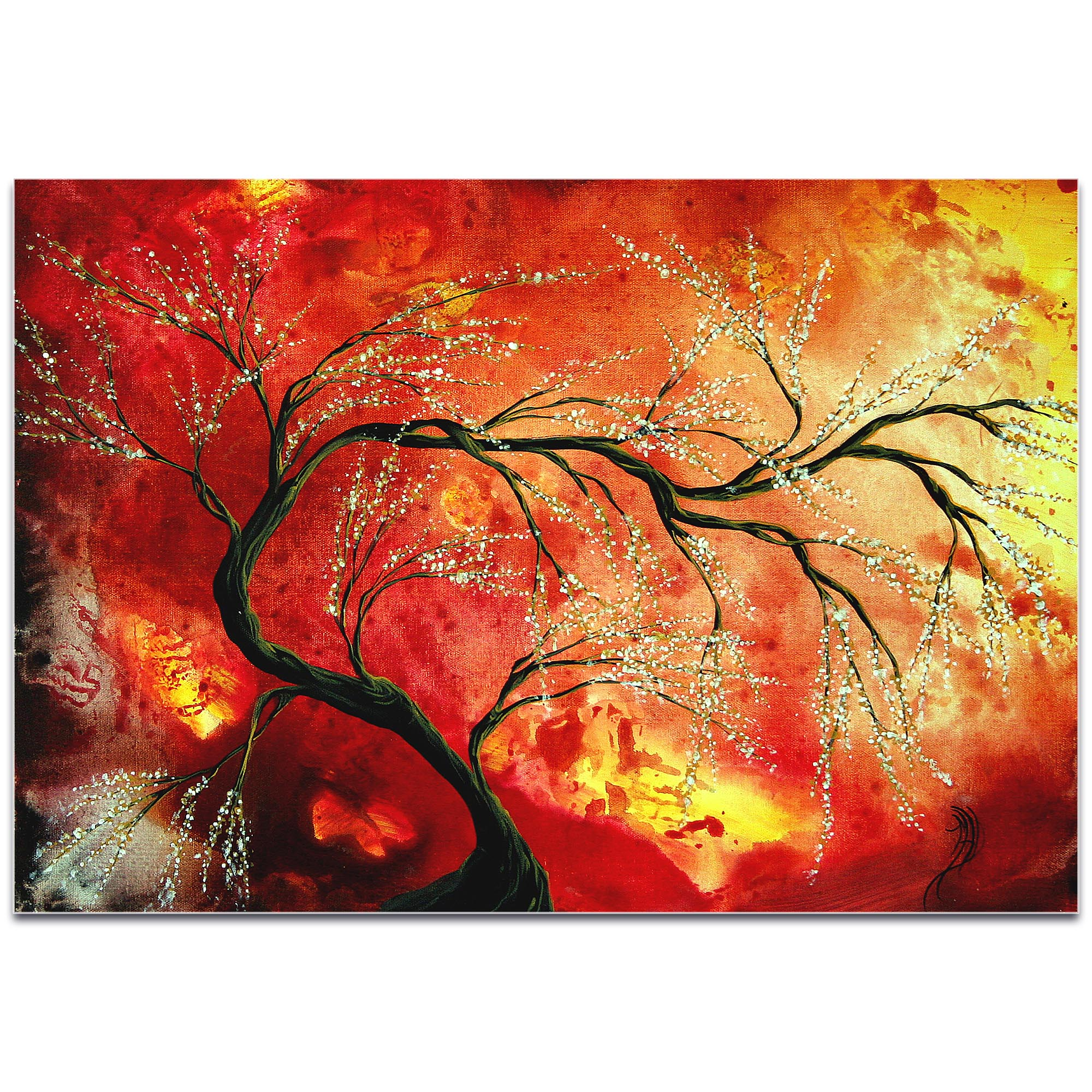 Landscape Painting 'Fresh Blossoms' - Abstract Tree Art on Metal or Acrylic - Image 2