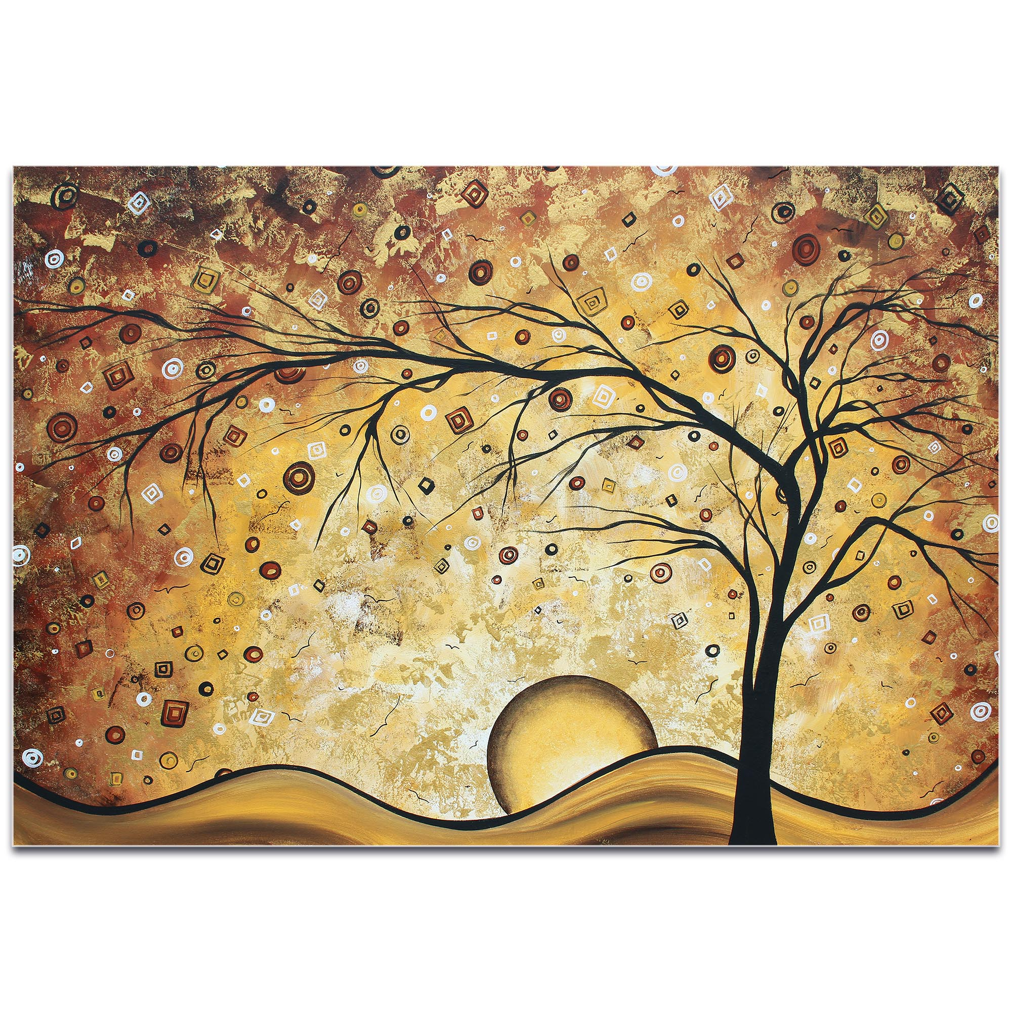 Landscape Painting 'Golden Rhapsody' - Abstract Tree Art on Metal or Acrylic - Image 2