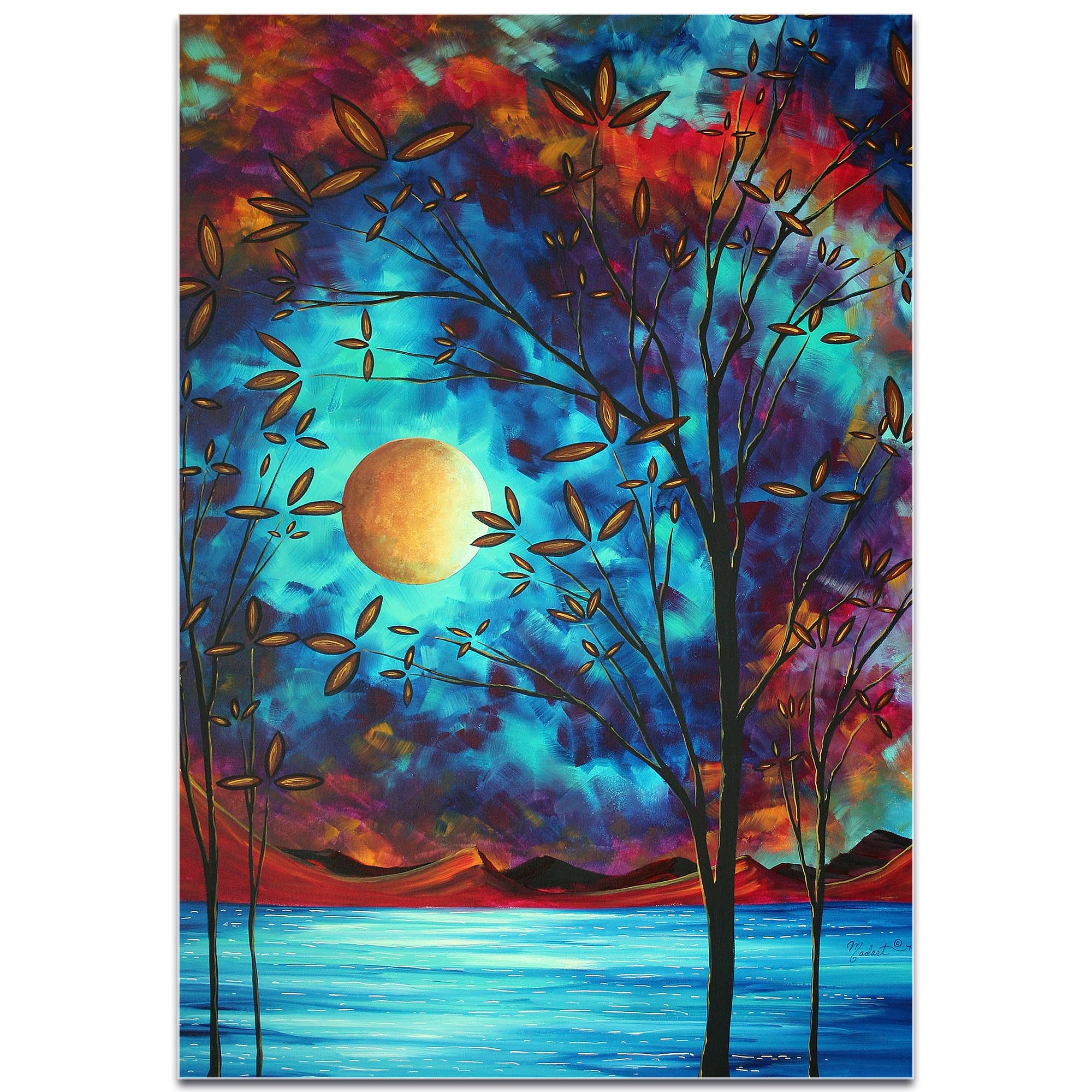 Coastal Landscape 'Visionary Delight' - Abstract Tree Art on Metal or Acrylic - Image 2