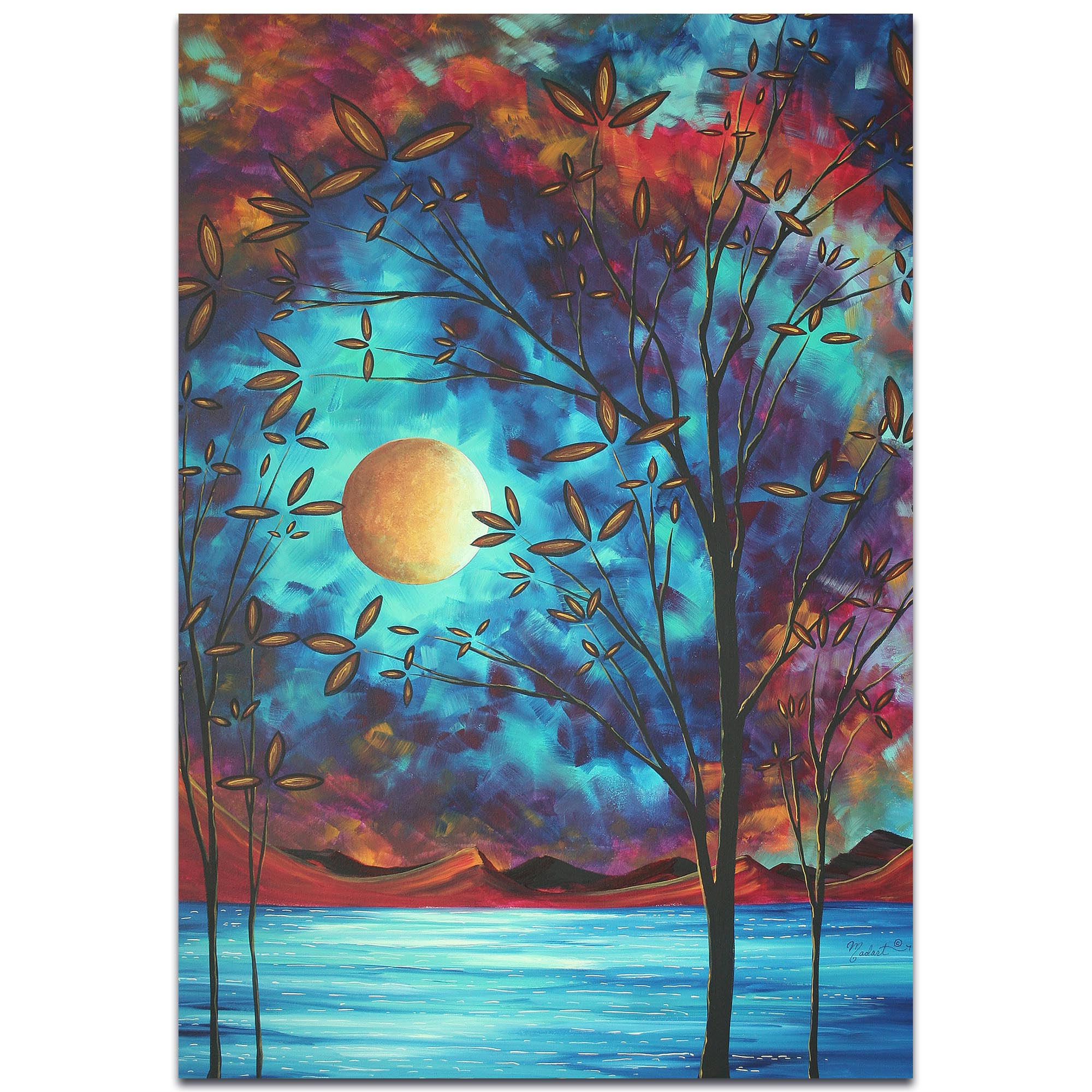 Coastal Landscape 'Visionary Delight' - Abstract Tree Art on Metal or Acrylic