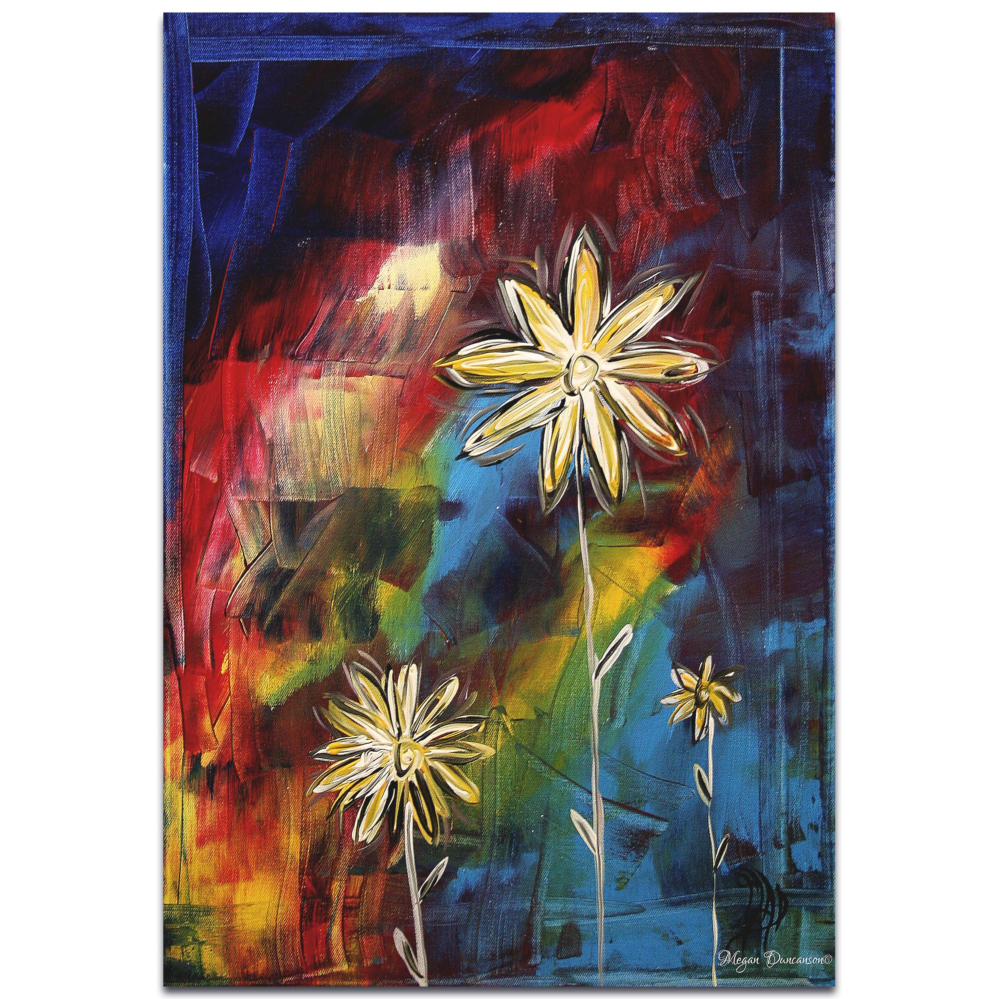 Impasto Flower Painting 'Visual Feast' - Abstract Flower Art on Metal or Acrylic
