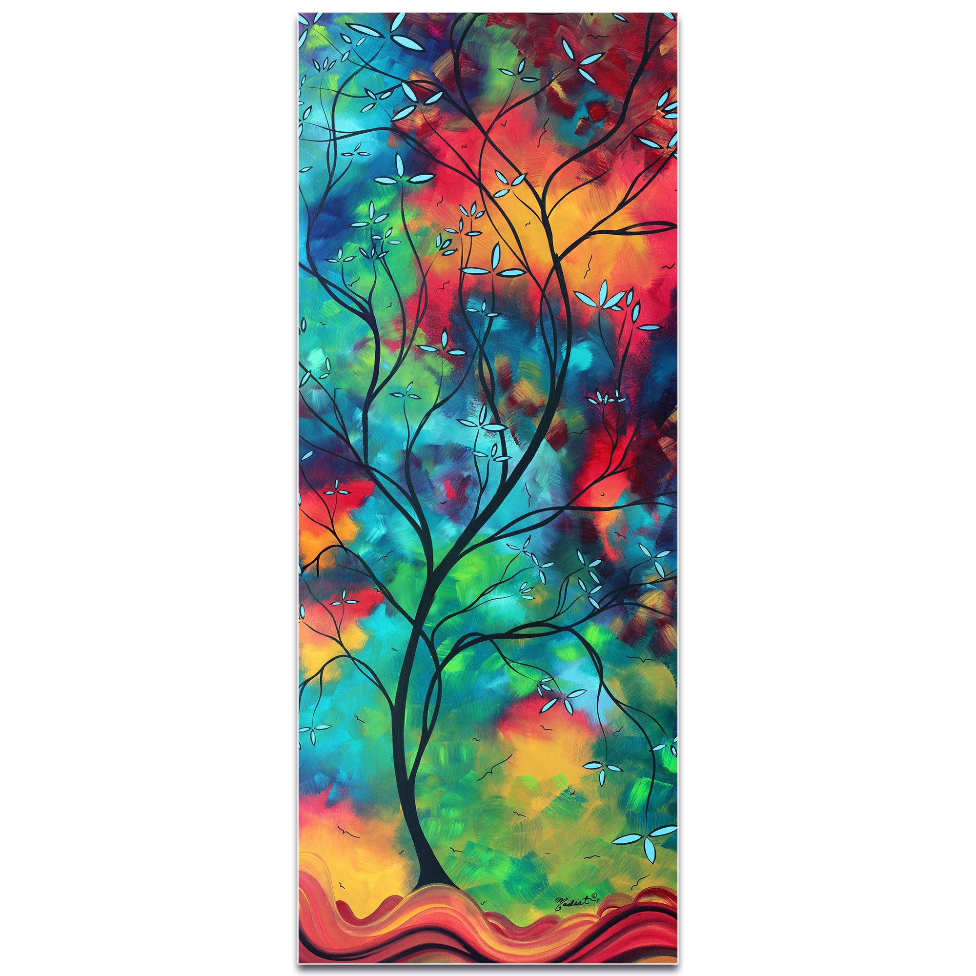 Landscape Painting 'Colored Inspiration' - Abstract Tree Art on Metal or Acrylic - Image 2