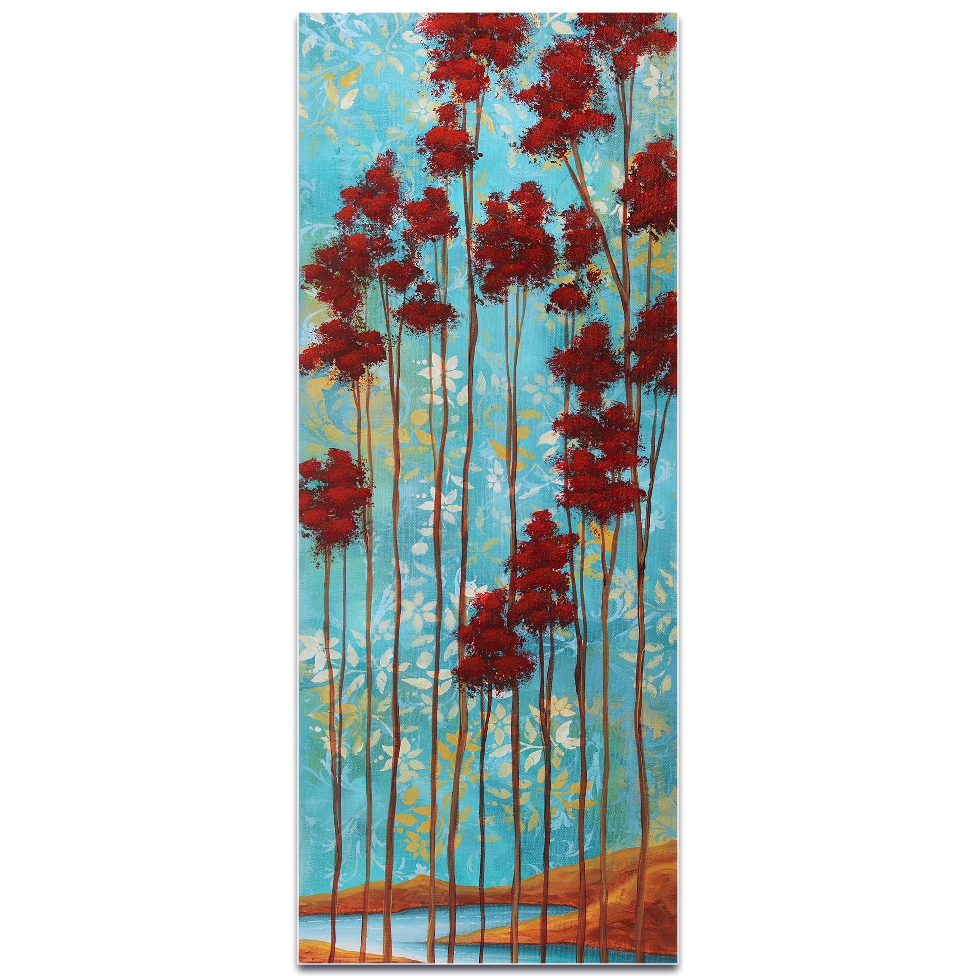 Abstract Tree Art 'Floating Dreams v1' - Landscape Painting on Metal or Acrylic - Image 2