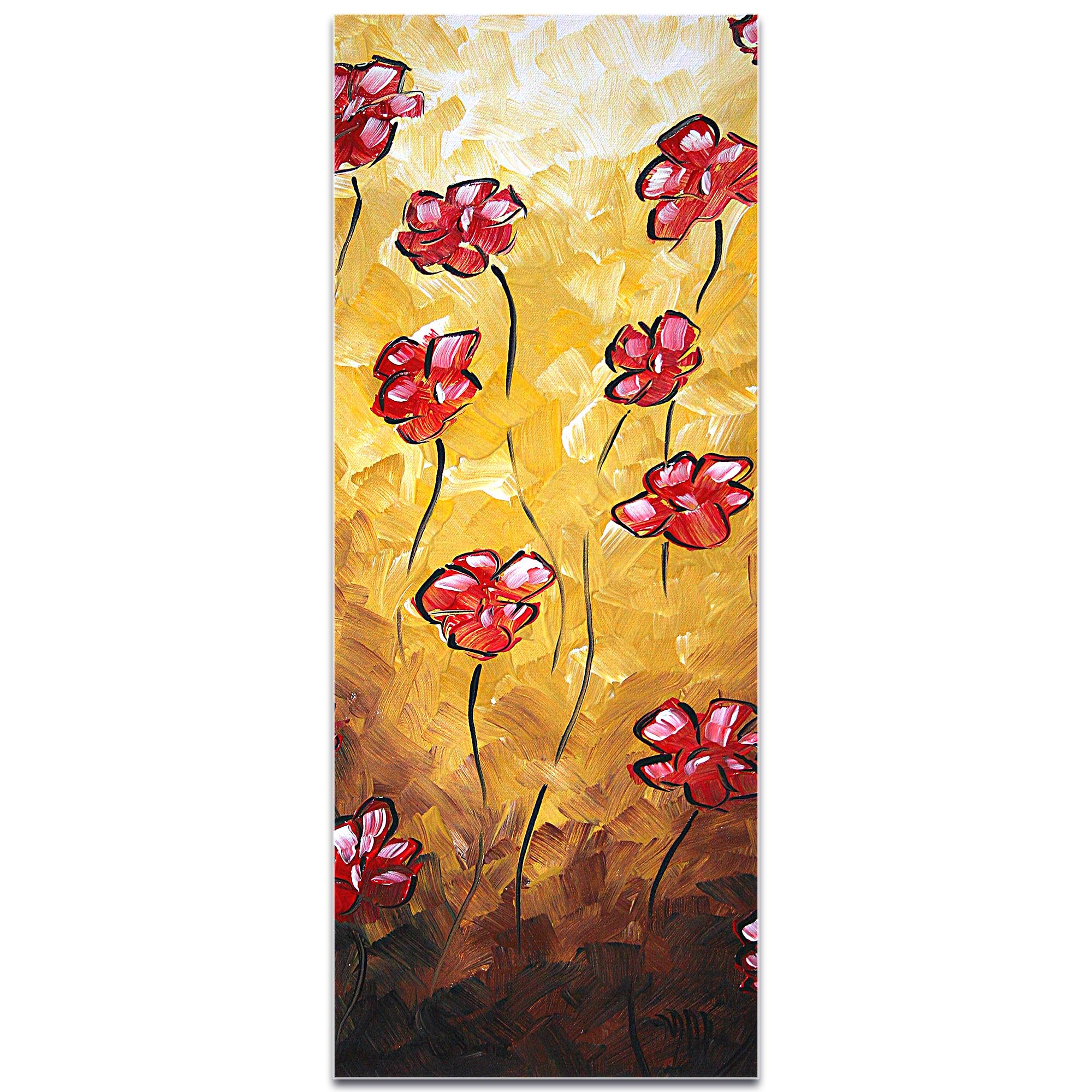 Impasto Flower Painting 'Floating Poppies' - Abstract Flower Art on Metal or Acrylic - Image 2