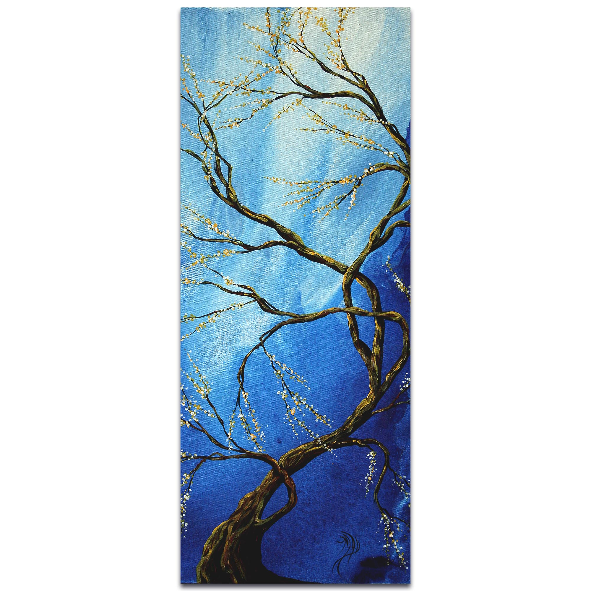 Landscape Painting 'Infinite Heights' - Abstract Tree Art on Metal or Acrylic